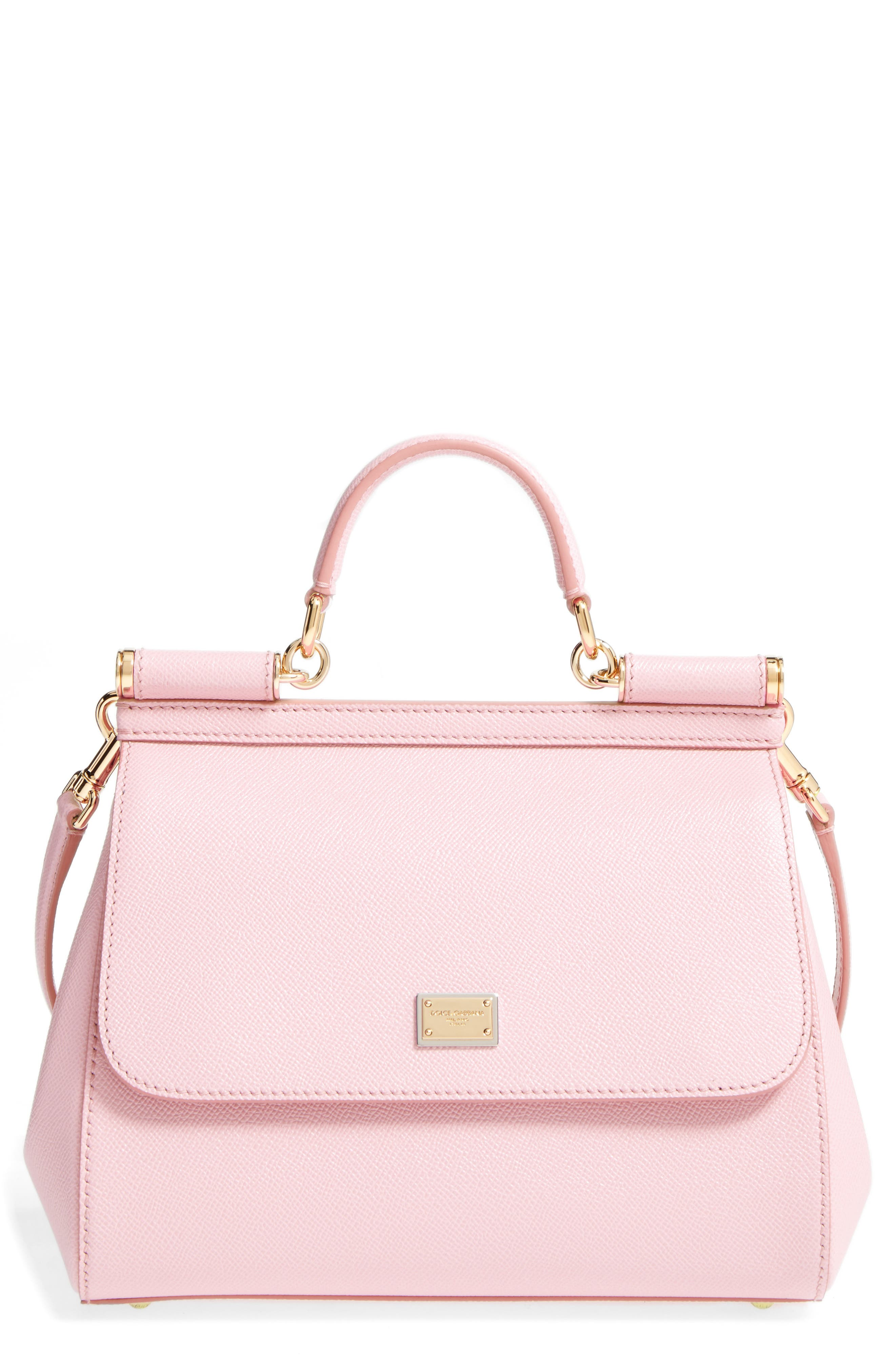 'Small Miss Sicily' Leather Satchel,                         Main,                         color, ROSA CARNE DUO