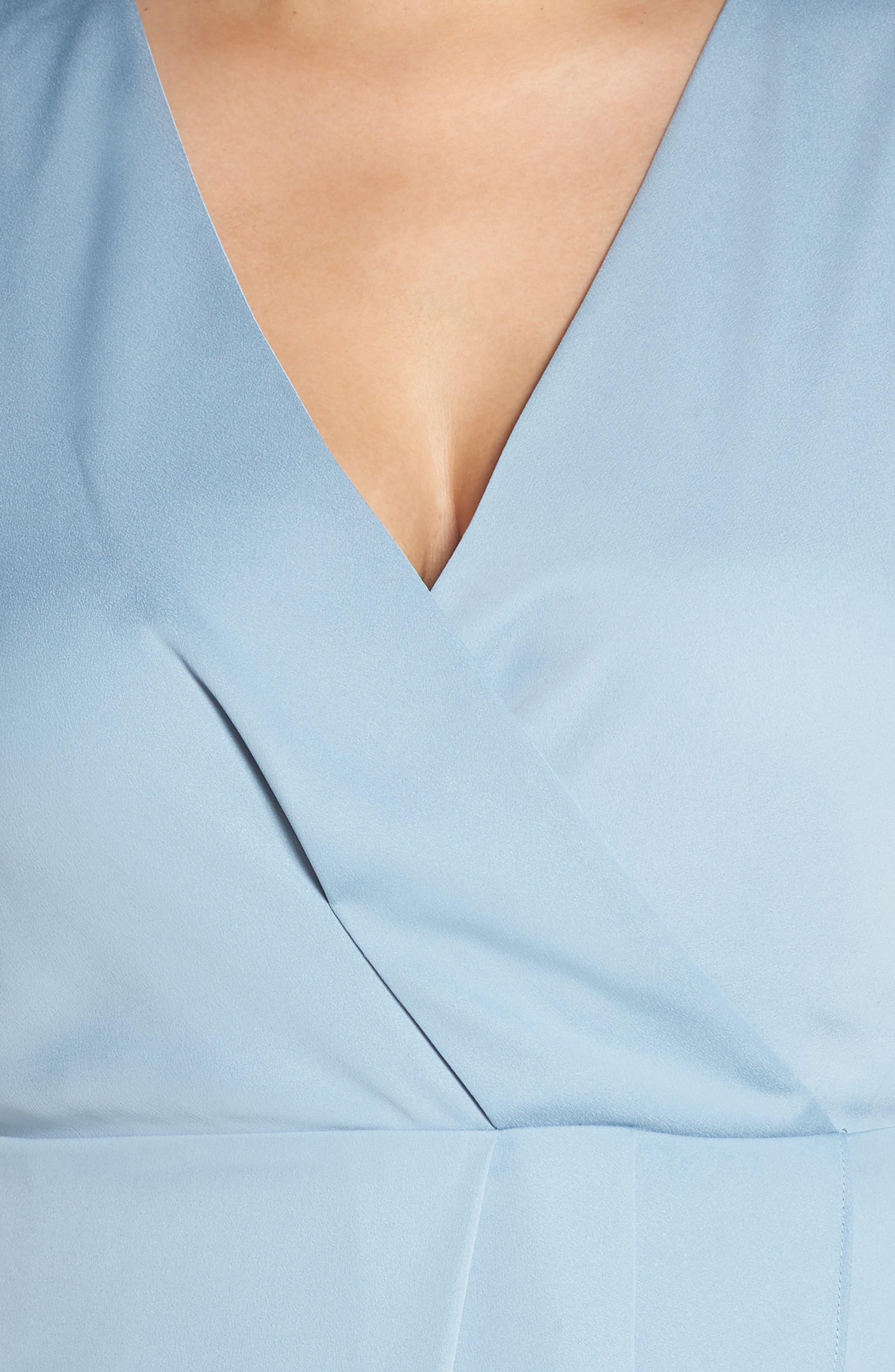 Florence Drape Sheath Dress,                             Alternate thumbnail 4, color,