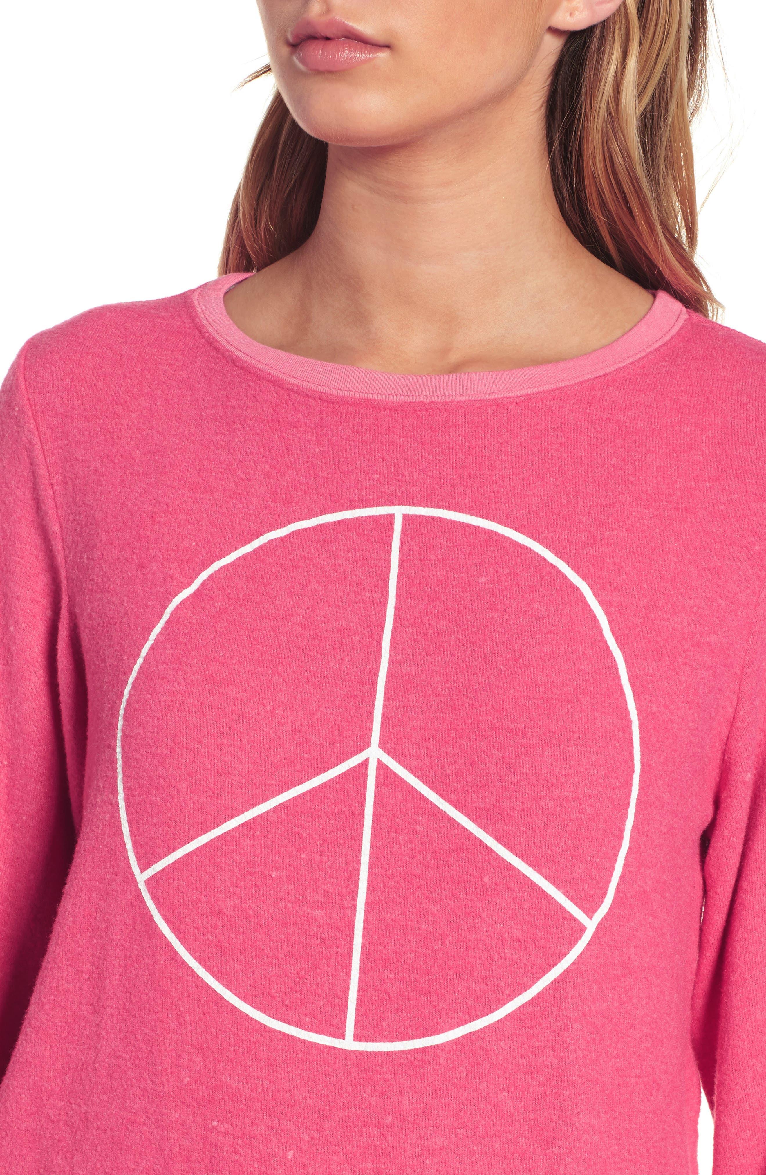 Peace Sweatshirt,                             Alternate thumbnail 4, color,                             670