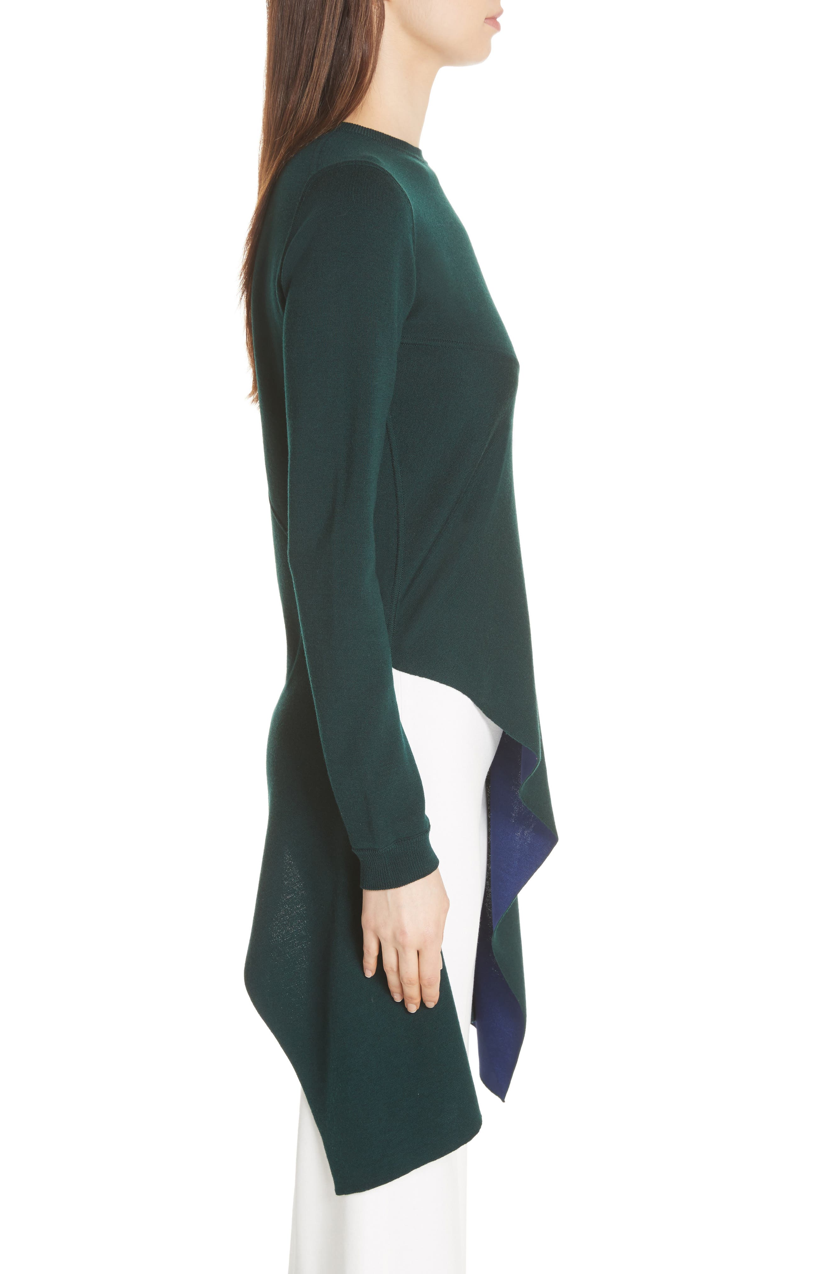 Reversible Knit Asymmetrical Top,                             Alternate thumbnail 4, color,