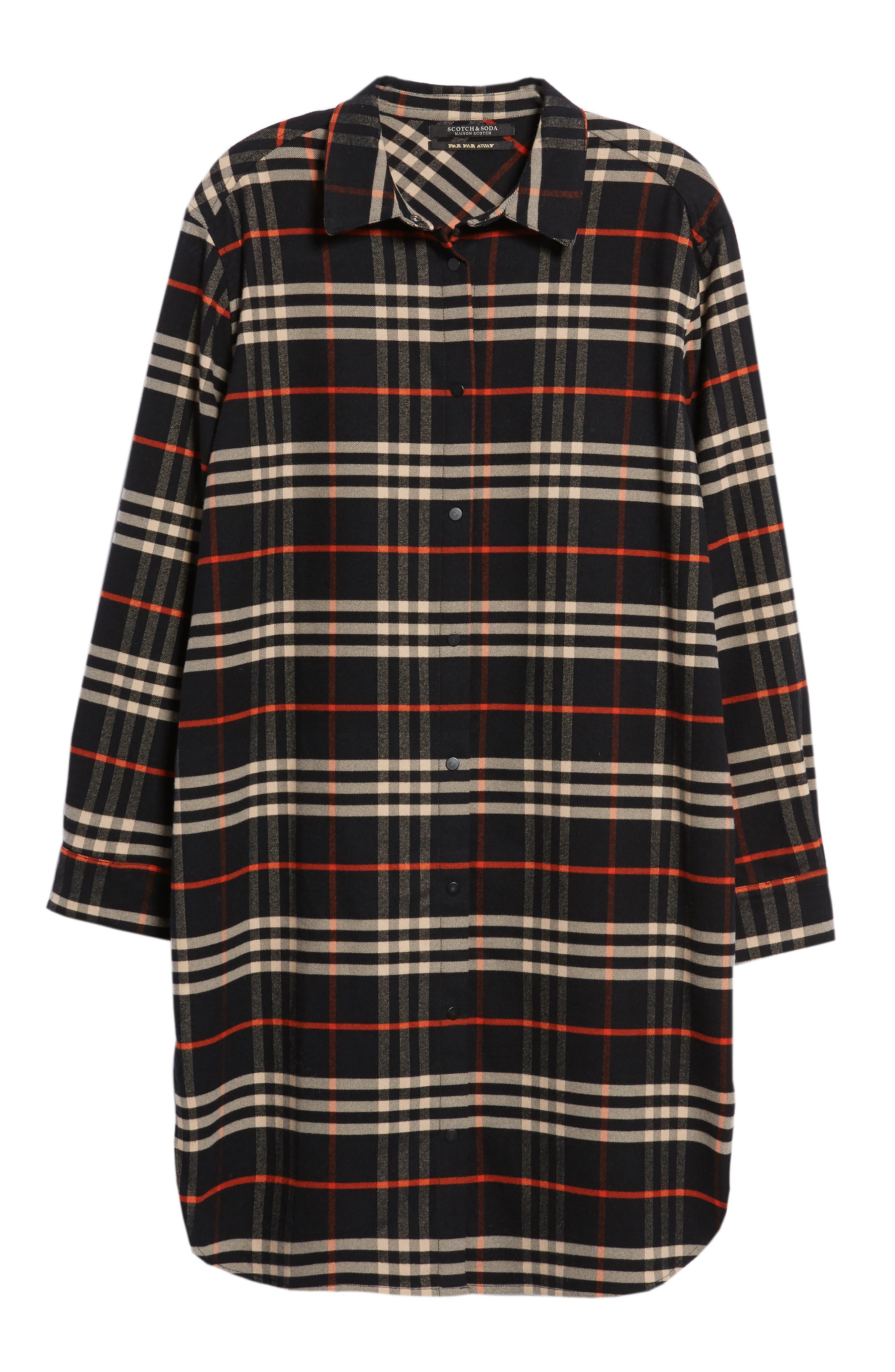 Check Shirtdress,                             Alternate thumbnail 7, color,                             001