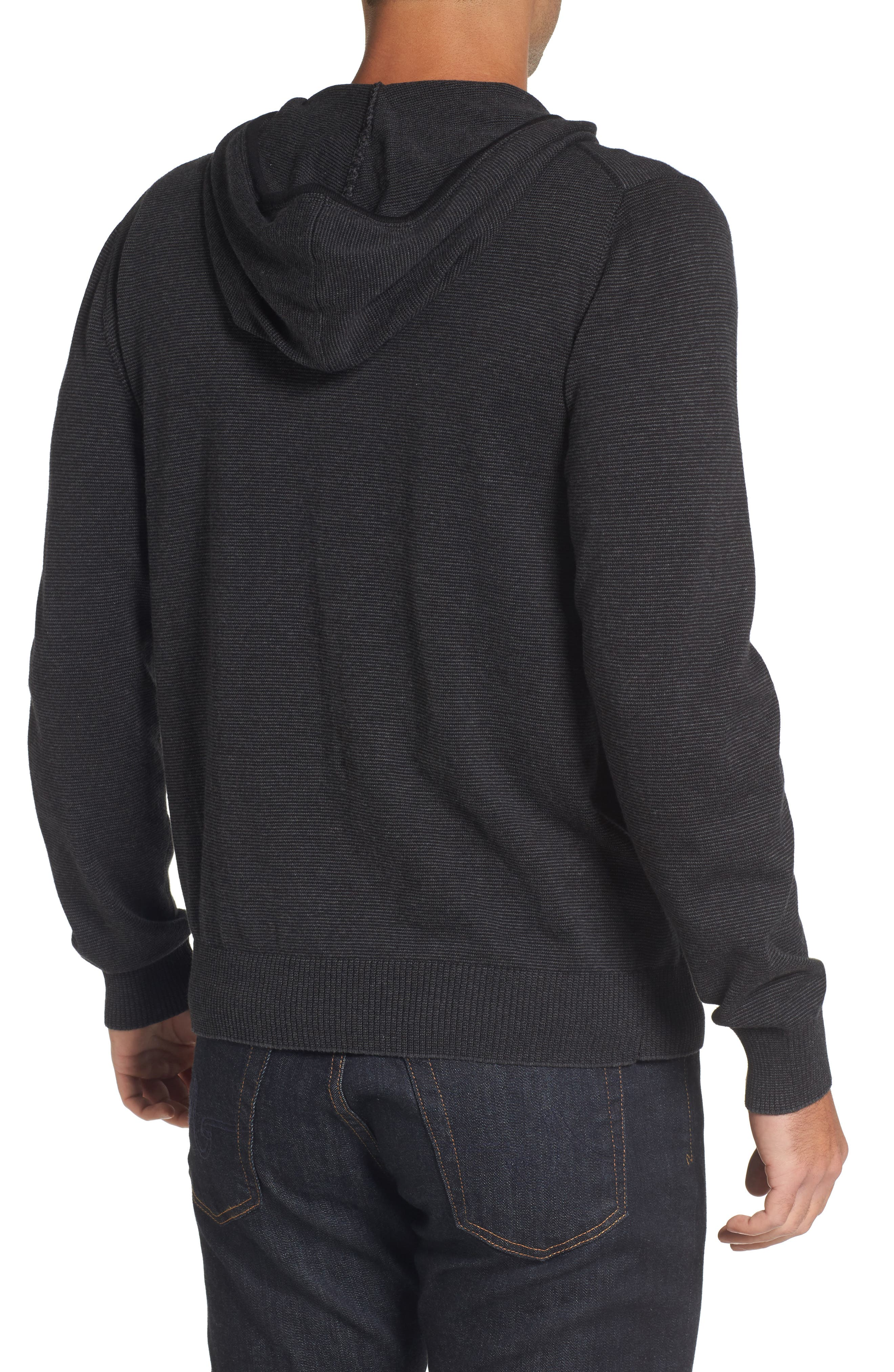 Zip Front Hooded Sweater,                             Alternate thumbnail 4, color,