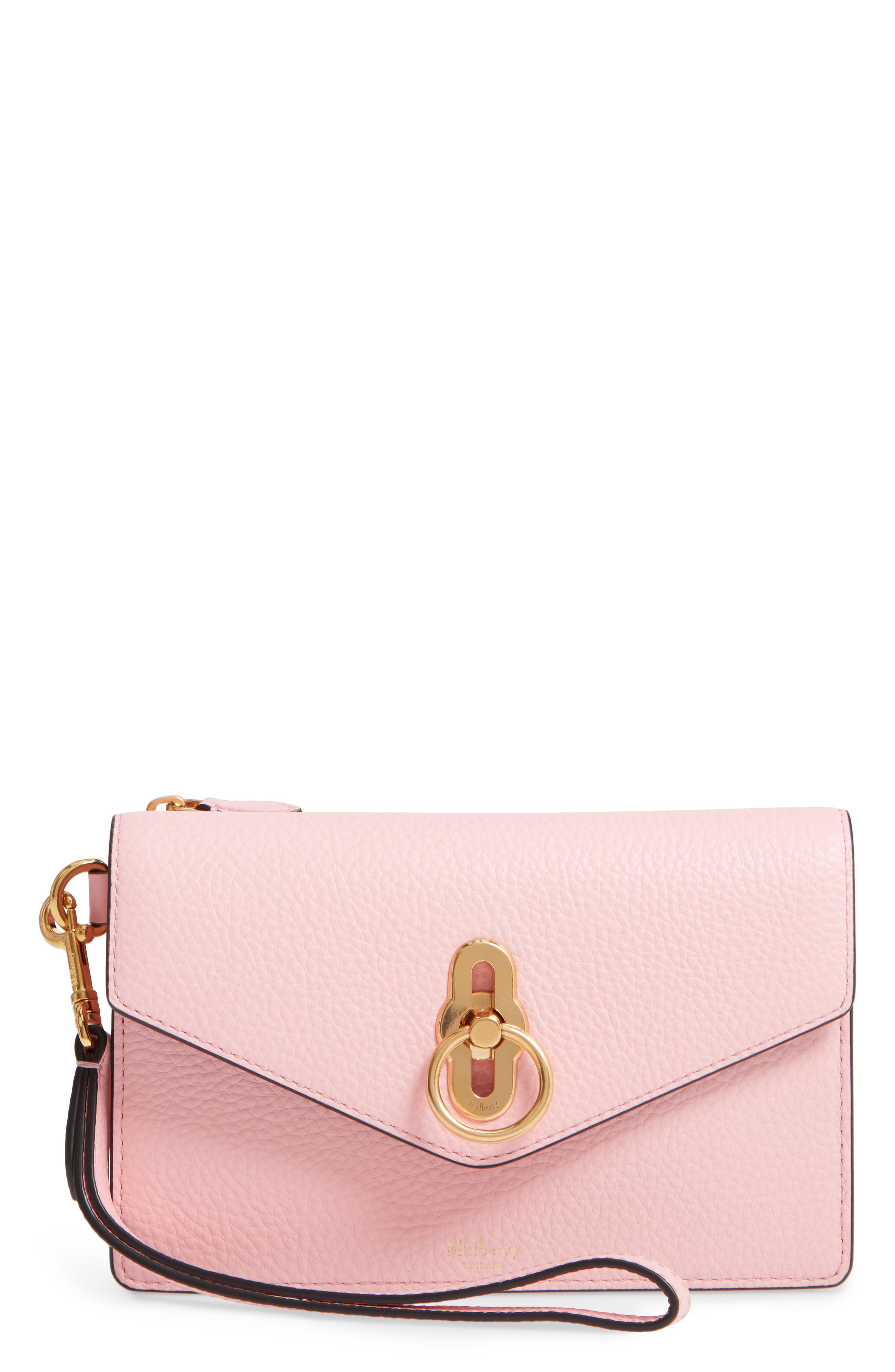 MULBERRY Amberley Iphone Leather Clutch - Pink in Sorbet Pink