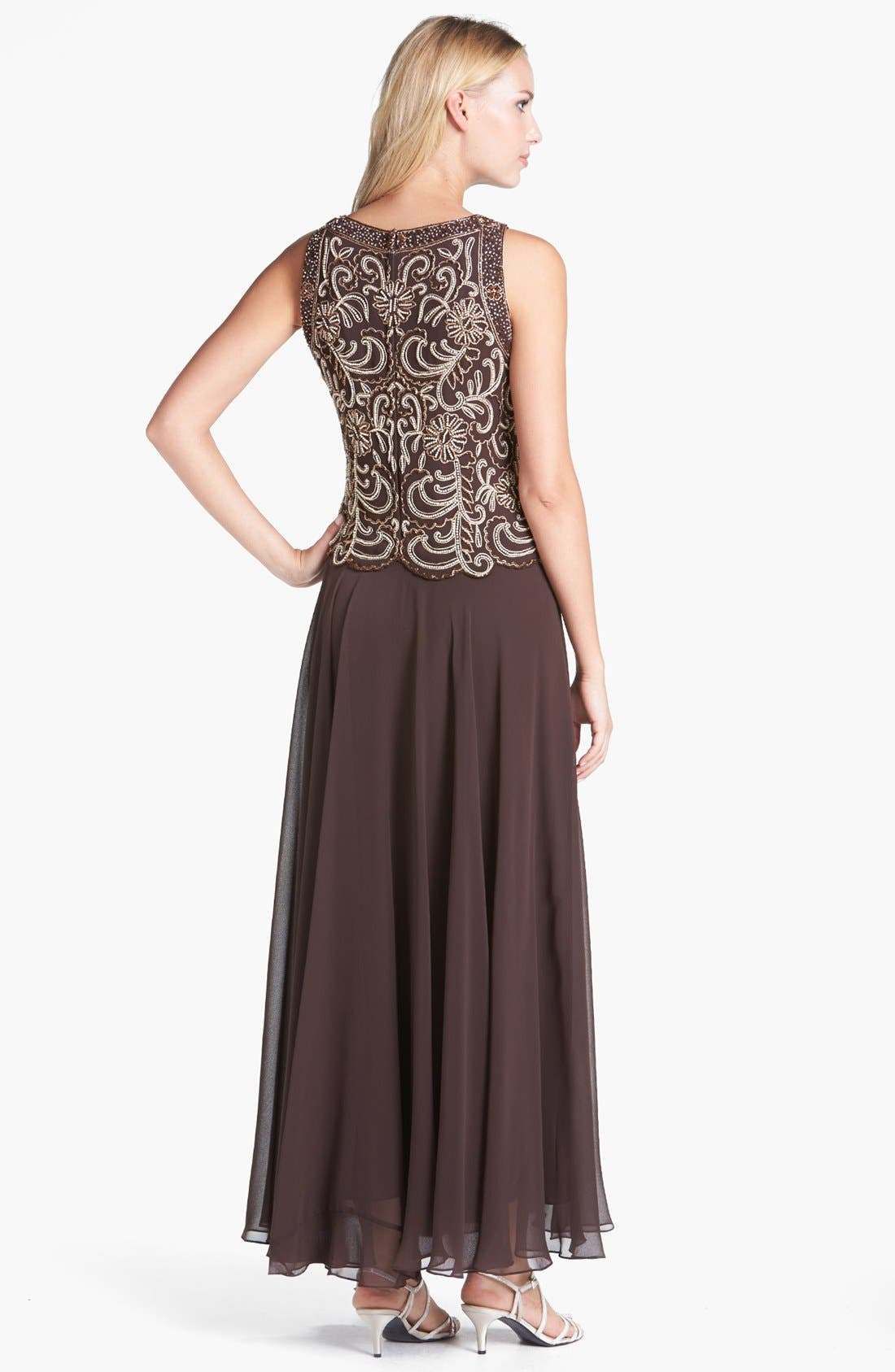Beaded Mock Two-Piece Dress,                             Alternate thumbnail 4, color,                             213