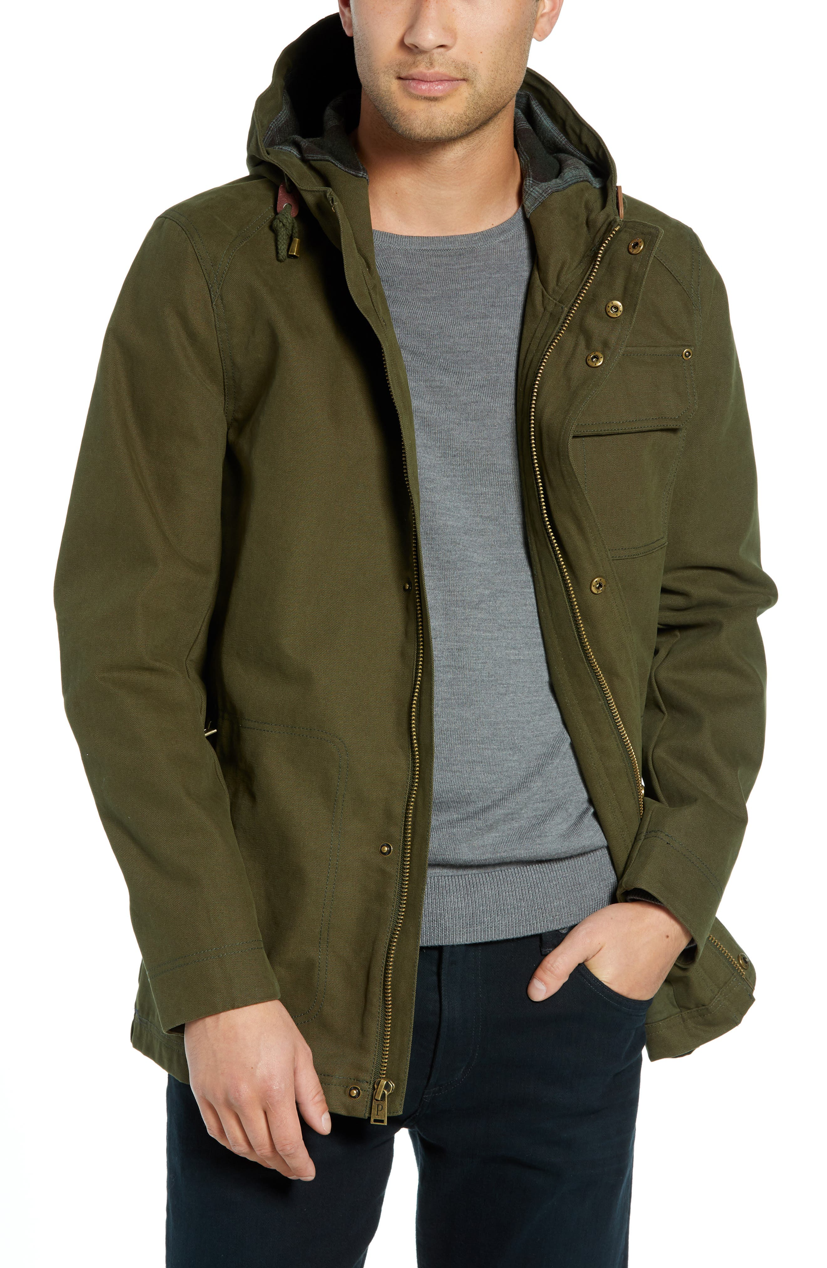 Dry Goods Cascade Raincoat,                         Main,                         color, OLIVE