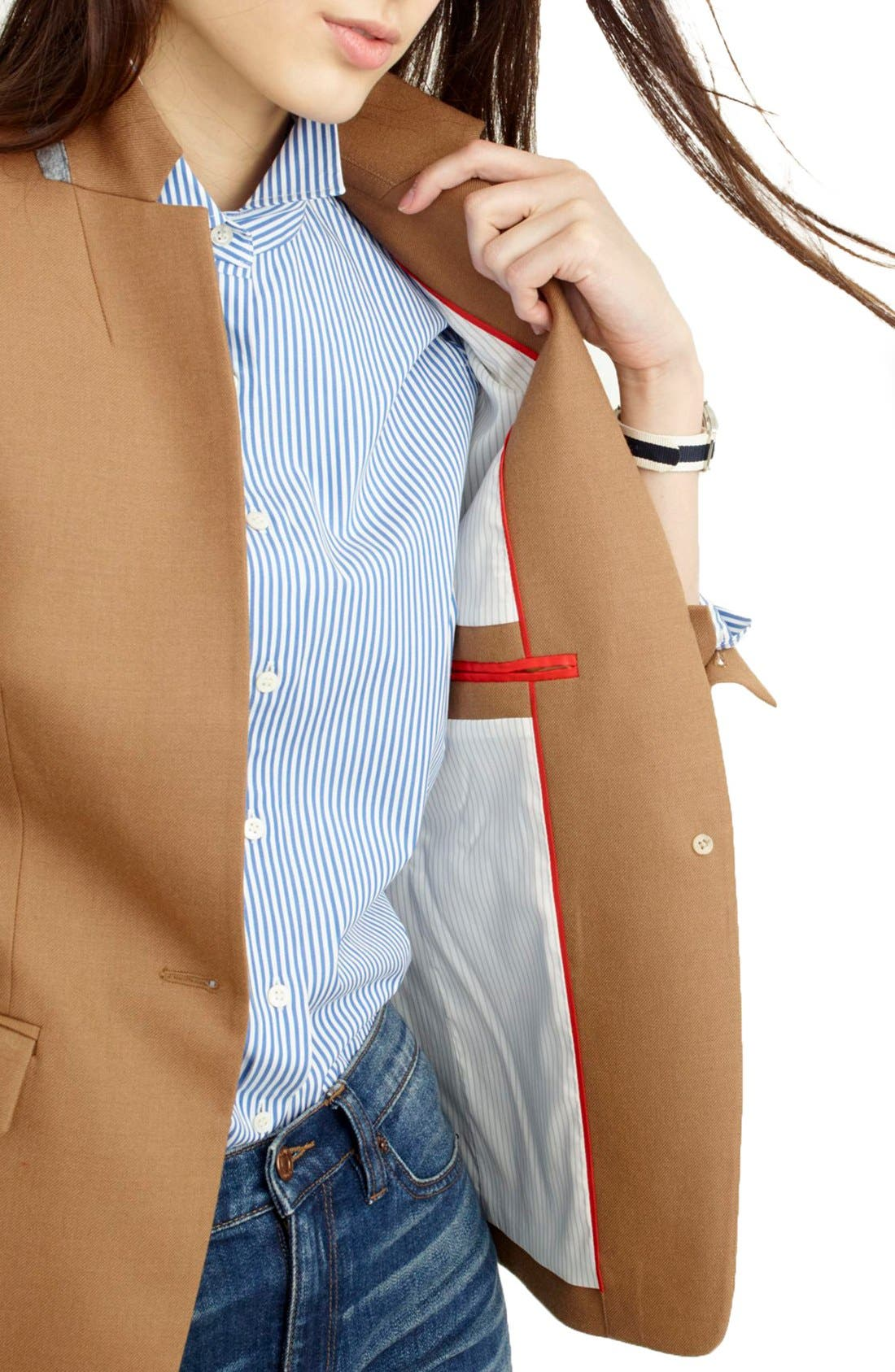 Regent Stand Collar Blazer,                             Alternate thumbnail 8, color,