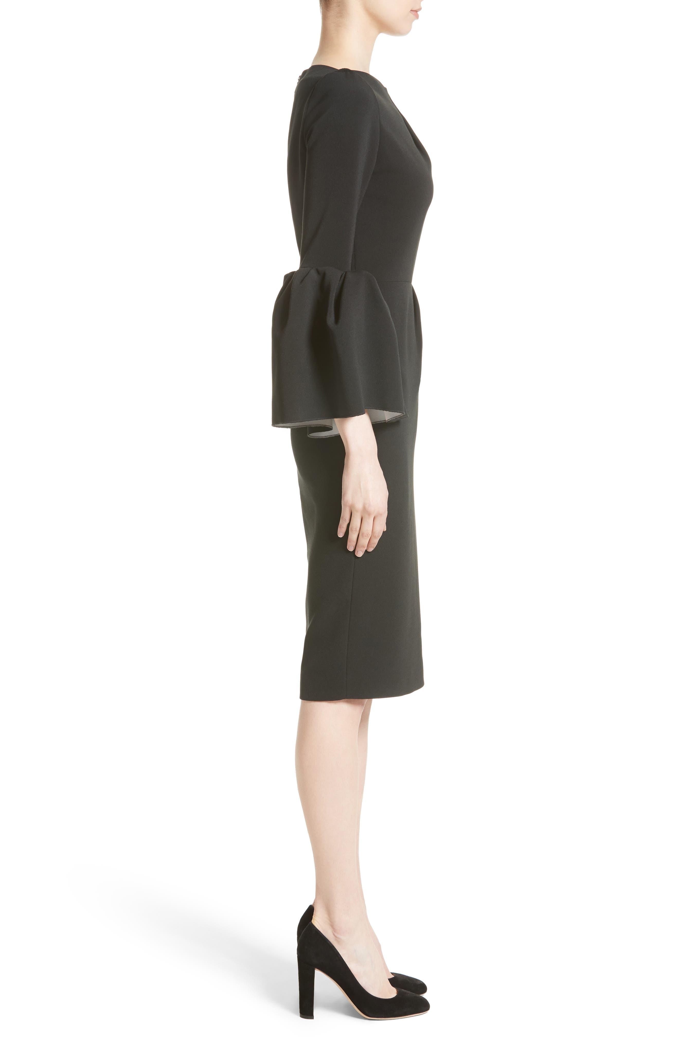 Margot Dress,                             Alternate thumbnail 3, color,                             BLACK/IVORY