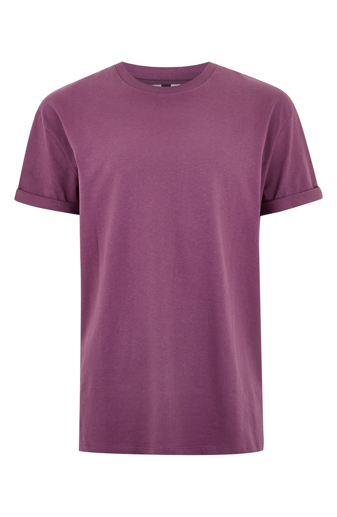 Oversize Fit Roller T-Shirt,                             Alternate thumbnail 3, color,                             PURPLE