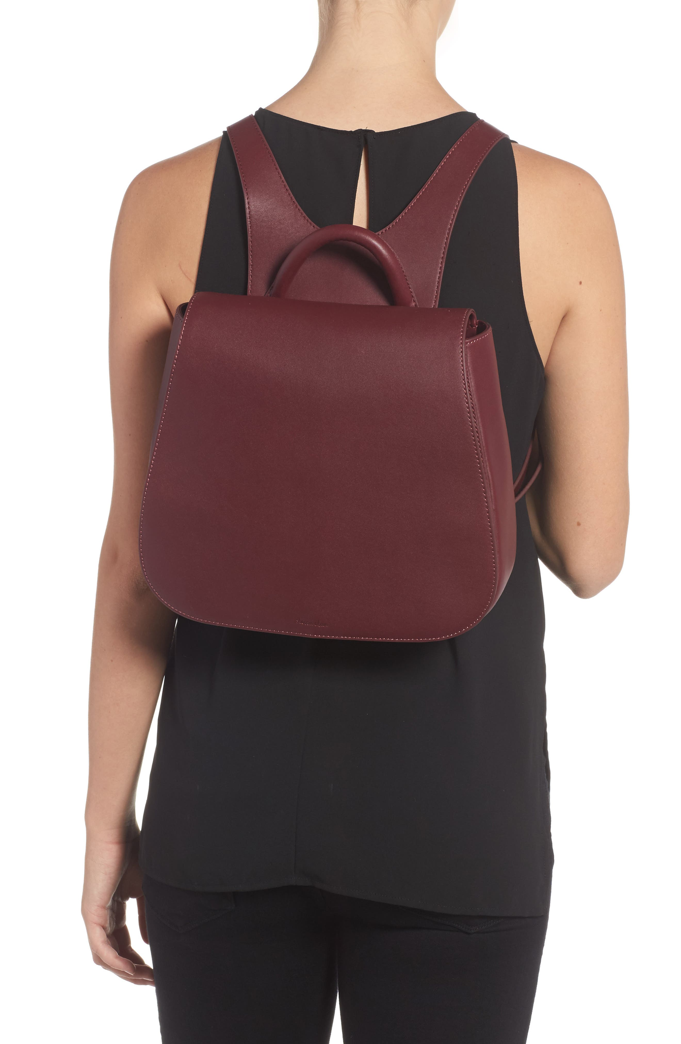 Kate Convertible Leather Backpack,                             Alternate thumbnail 2, color,                             600