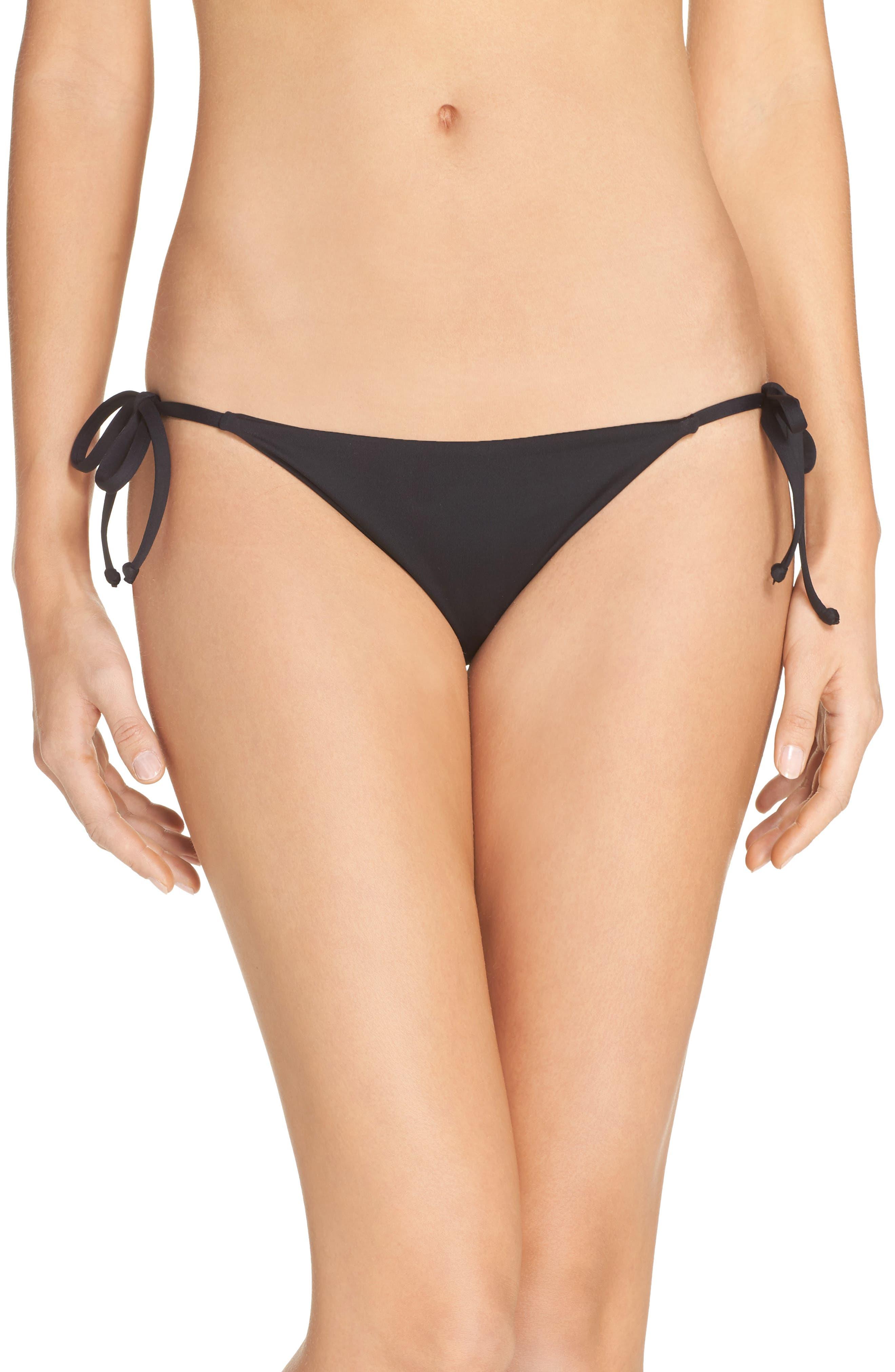 Becca By Rebecca Virtue Color Code Side Tie Bikini Bottom in Black