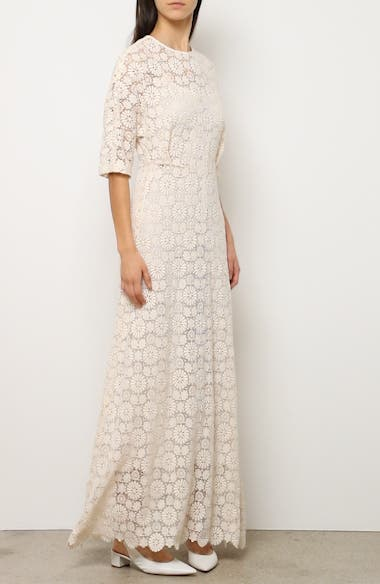 Guipure Lace Long Sheath Dress, video thumbnail