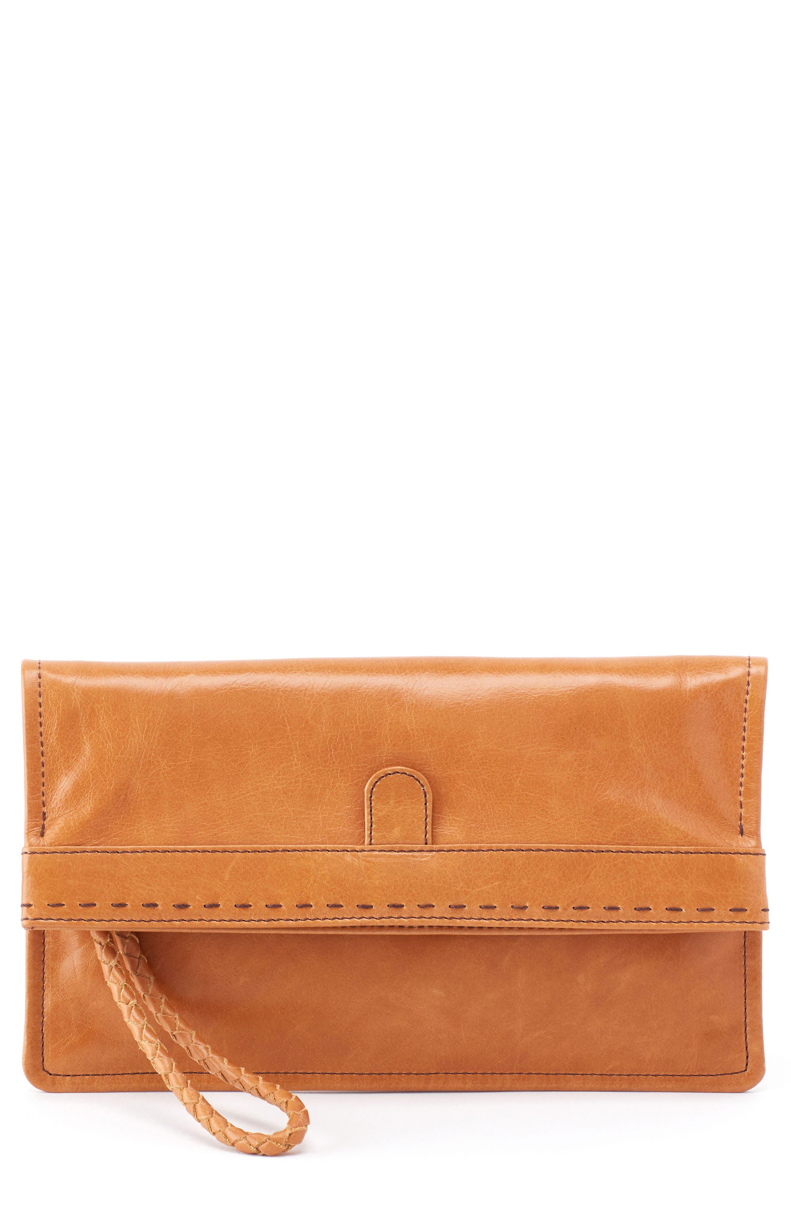 Arbor Leather Wristlet Clutch,                             Main thumbnail 3, color,
