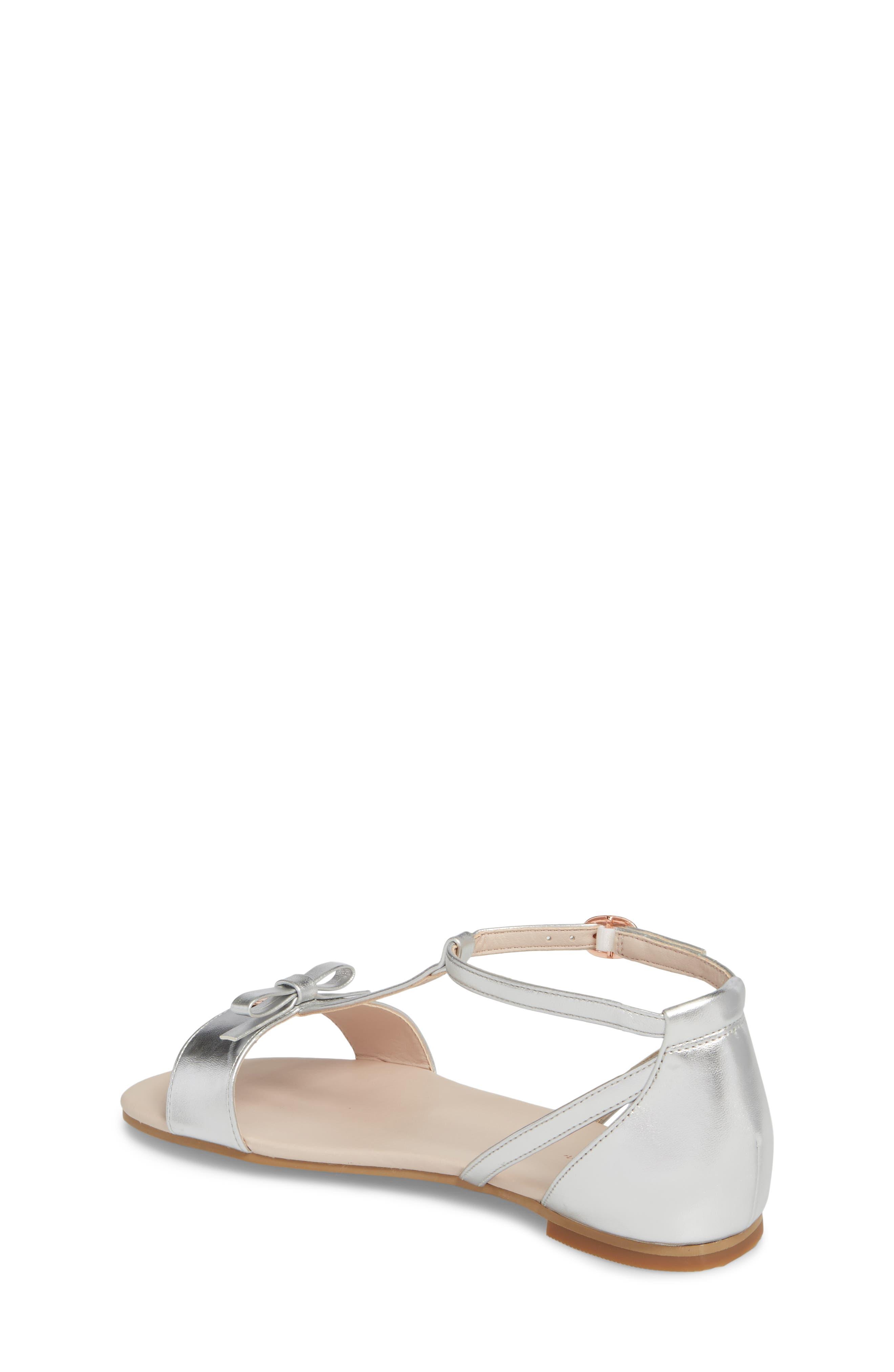 Valentina Metallic T-Strap Sandal,                             Alternate thumbnail 2, color,                             040