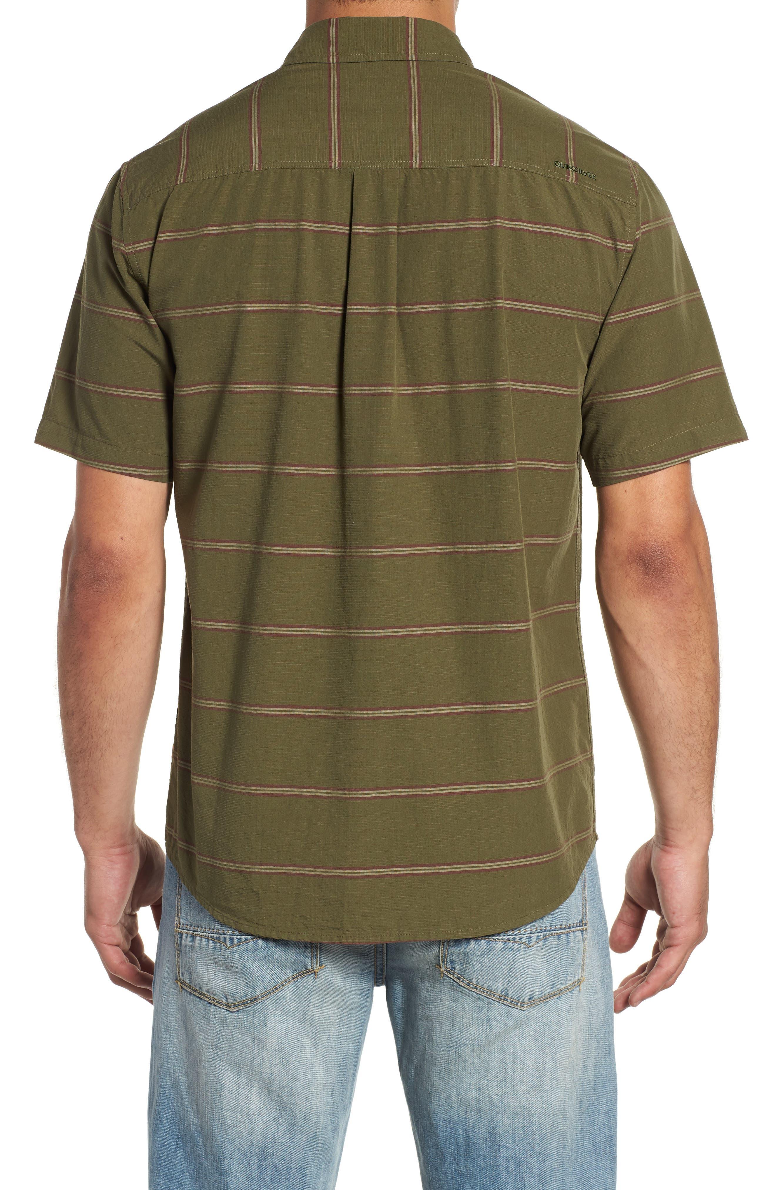 Last Dawn Regular Fit Stripe Sport Shirt,                             Alternate thumbnail 3, color,                             300
