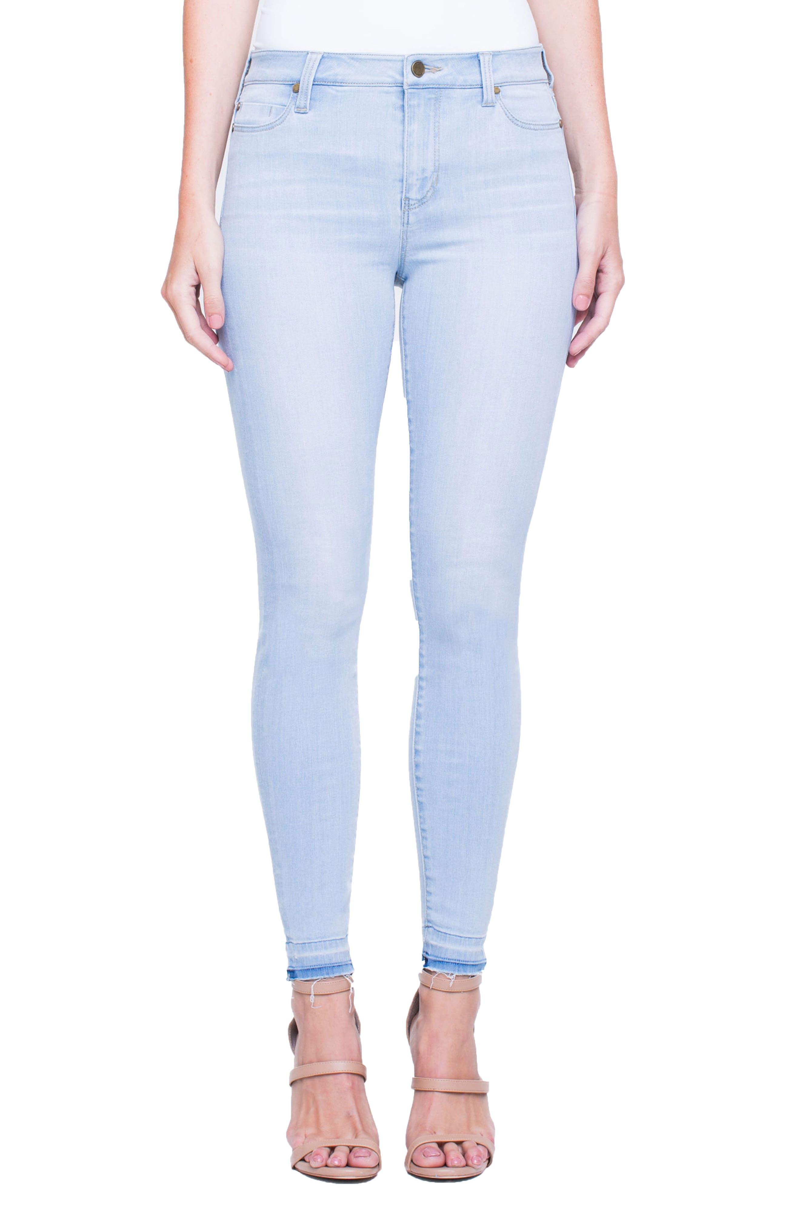 Parker Release Hem Ankle Skinny Jeans,                             Main thumbnail 1, color,