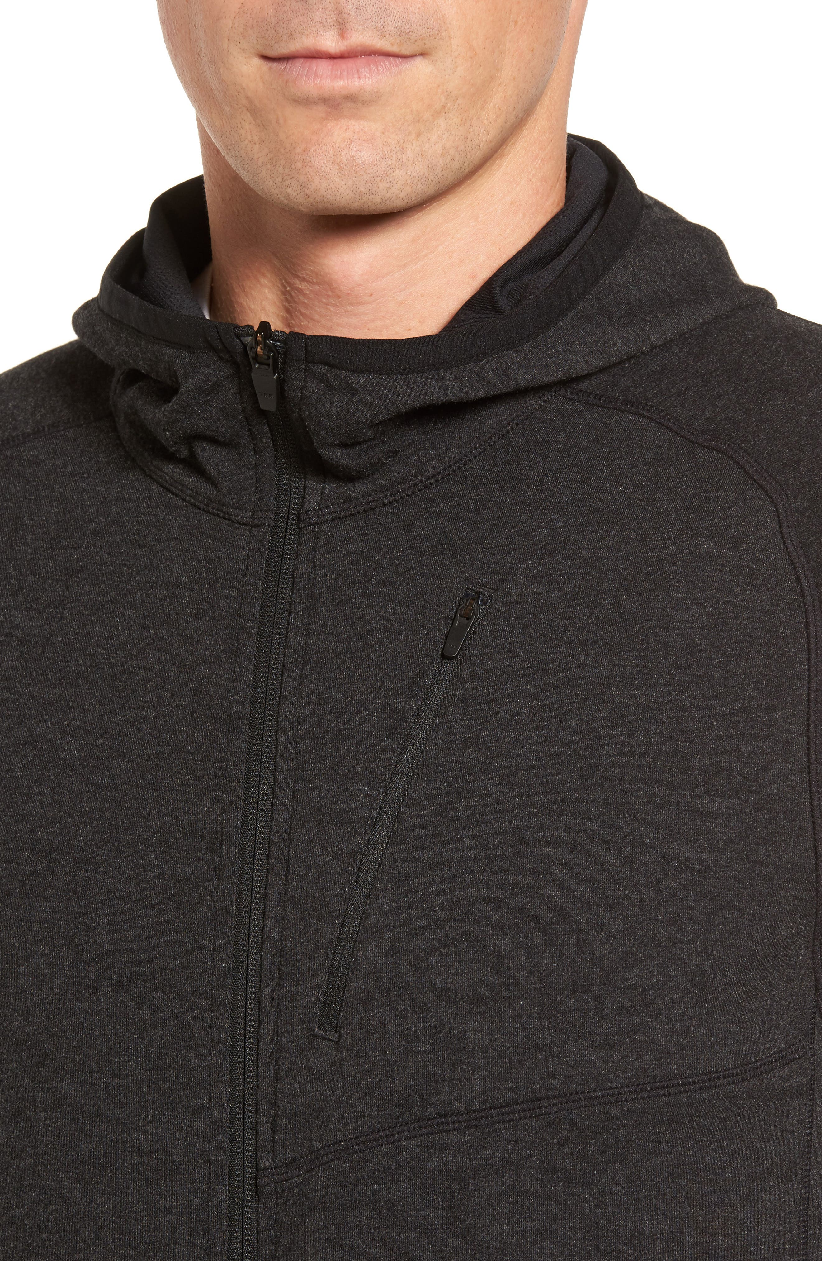 Pyrite Zip Hoodie,                             Alternate thumbnail 4, color,                             001