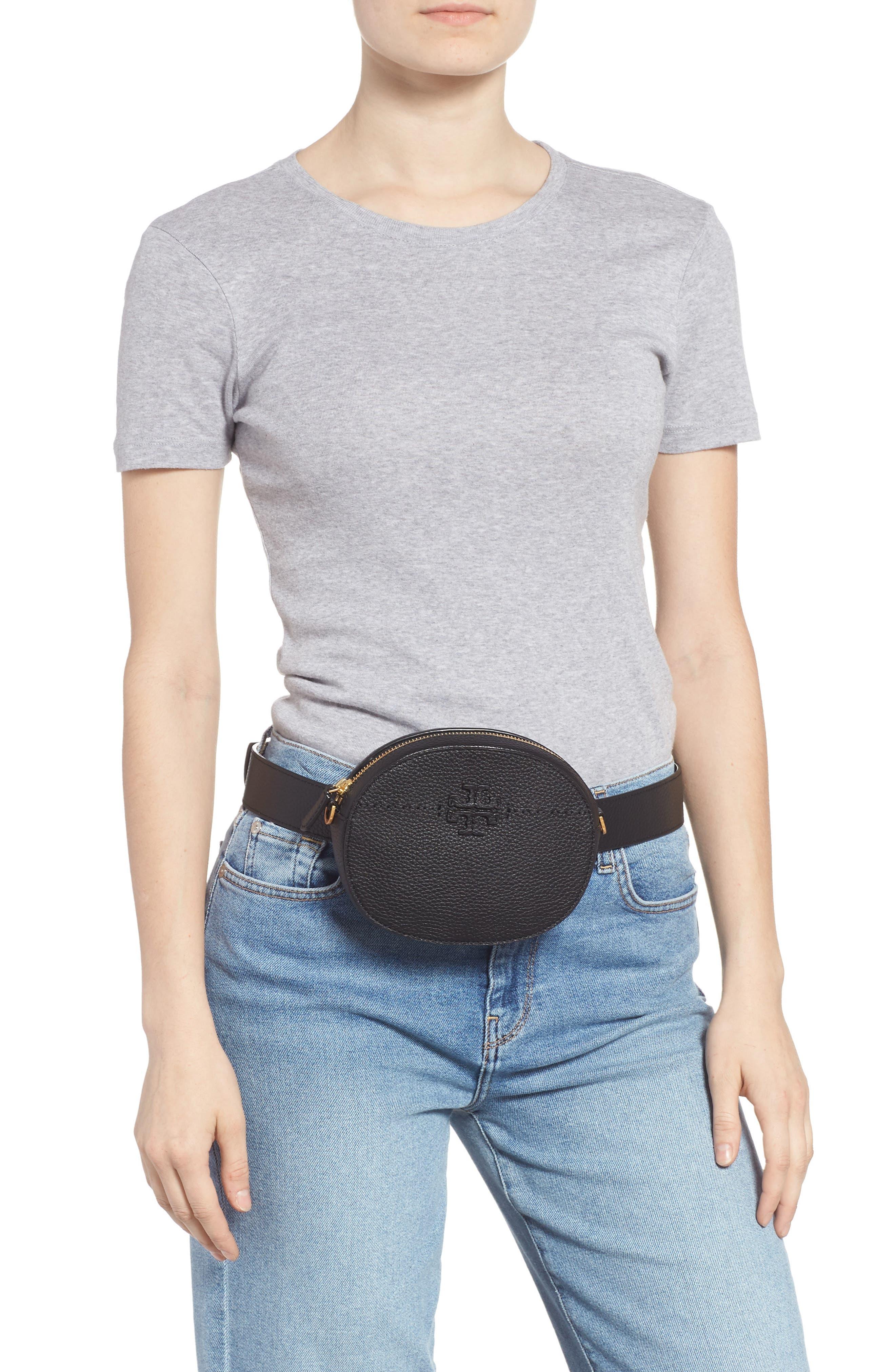 McGraw Leather Belt/Crossbody Bag,                             Alternate thumbnail 2, color,                             001
