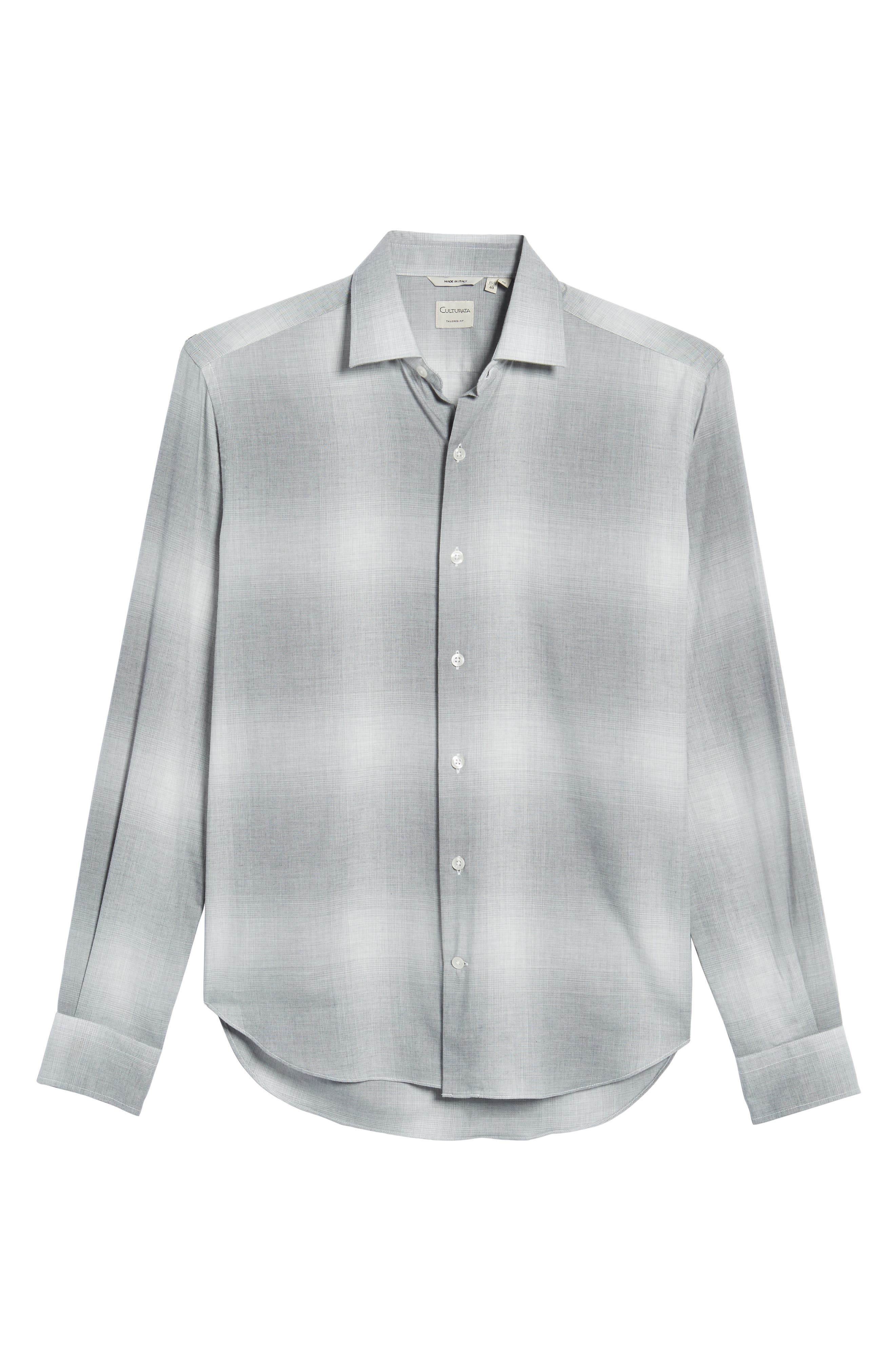 Slim Fit Plaid Sport Shirt,                             Alternate thumbnail 6, color,                             020
