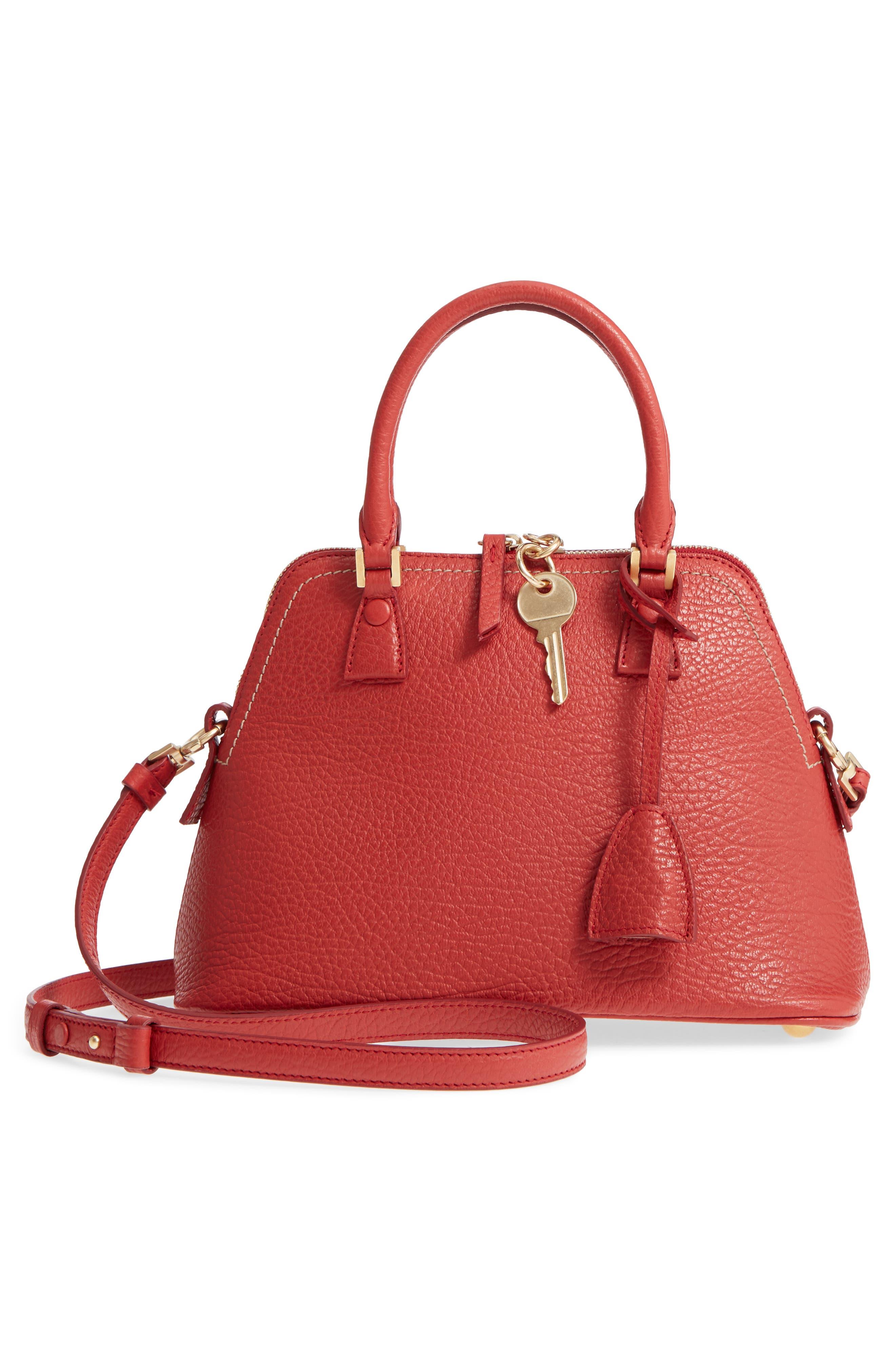 Small 5AC Calfskin Leather Handbag,                             Alternate thumbnail 3, color,                             600