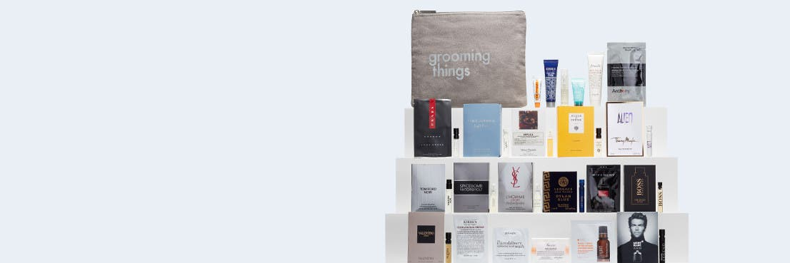 Free 24-piece gift with your $75 grooming or cologne purchase.