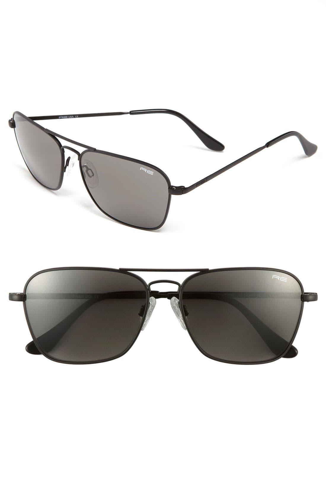 'Intruder' 58mm Sunglasses,                             Main thumbnail 1, color,                             002