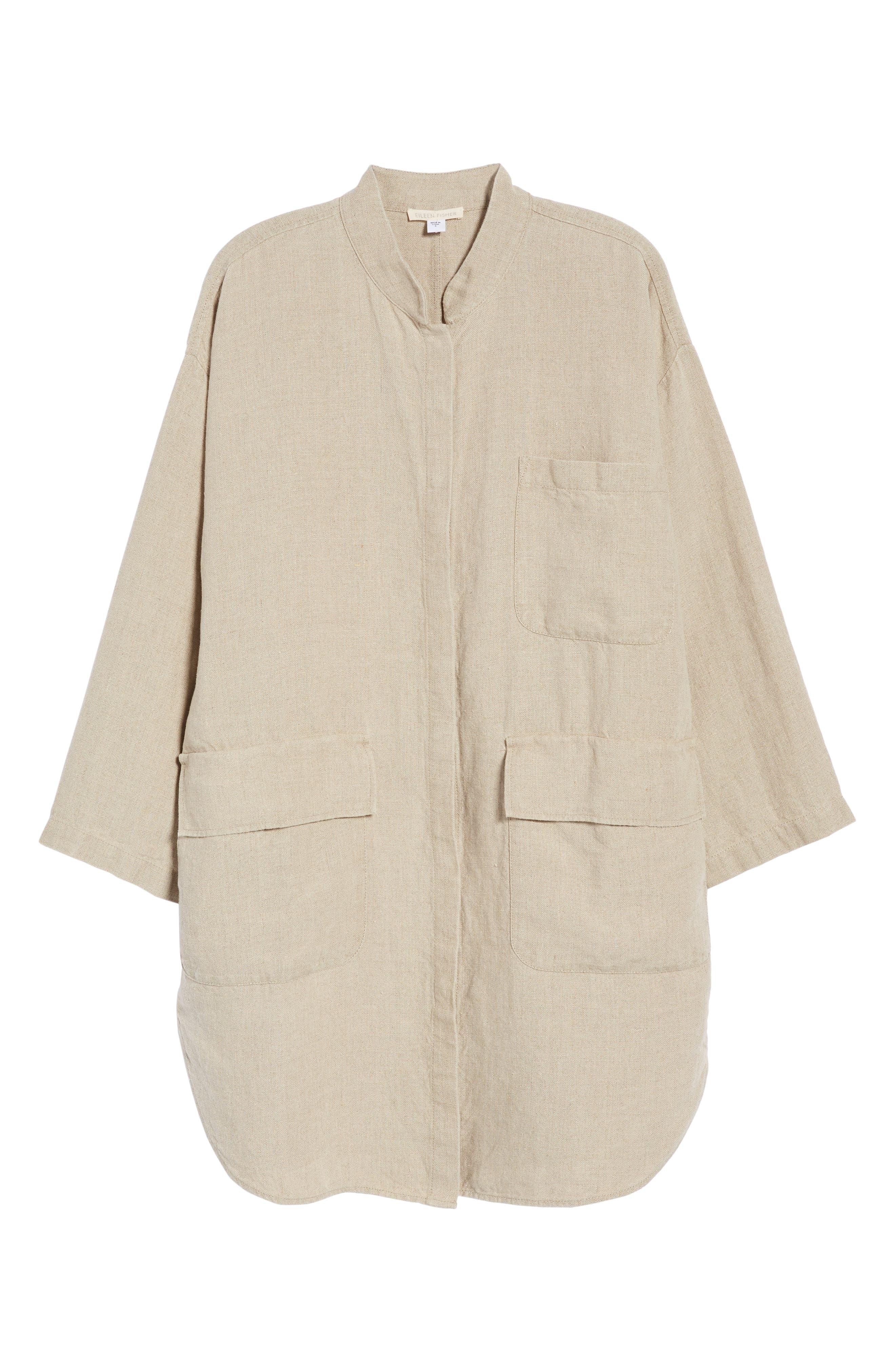 Organic Linen Jacket,                             Alternate thumbnail 11, color,