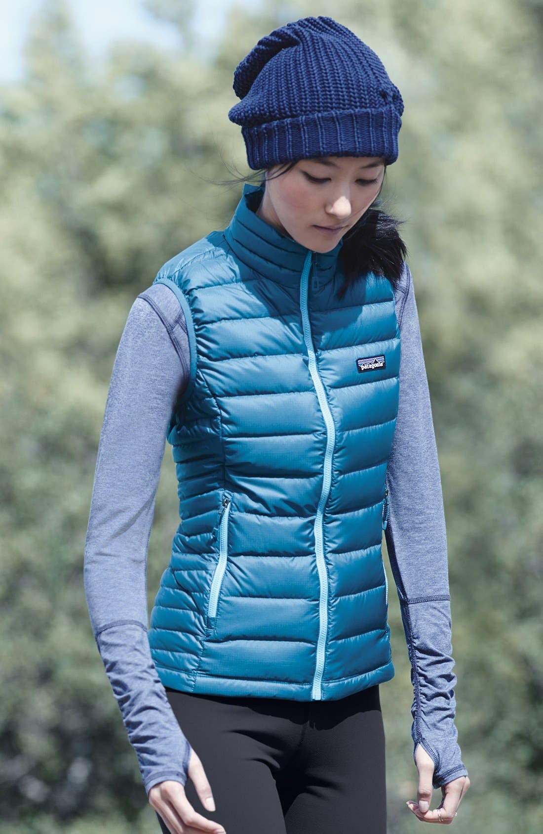 Down Vest,                             Alternate thumbnail 2, color,                             LAPIZ BLUE