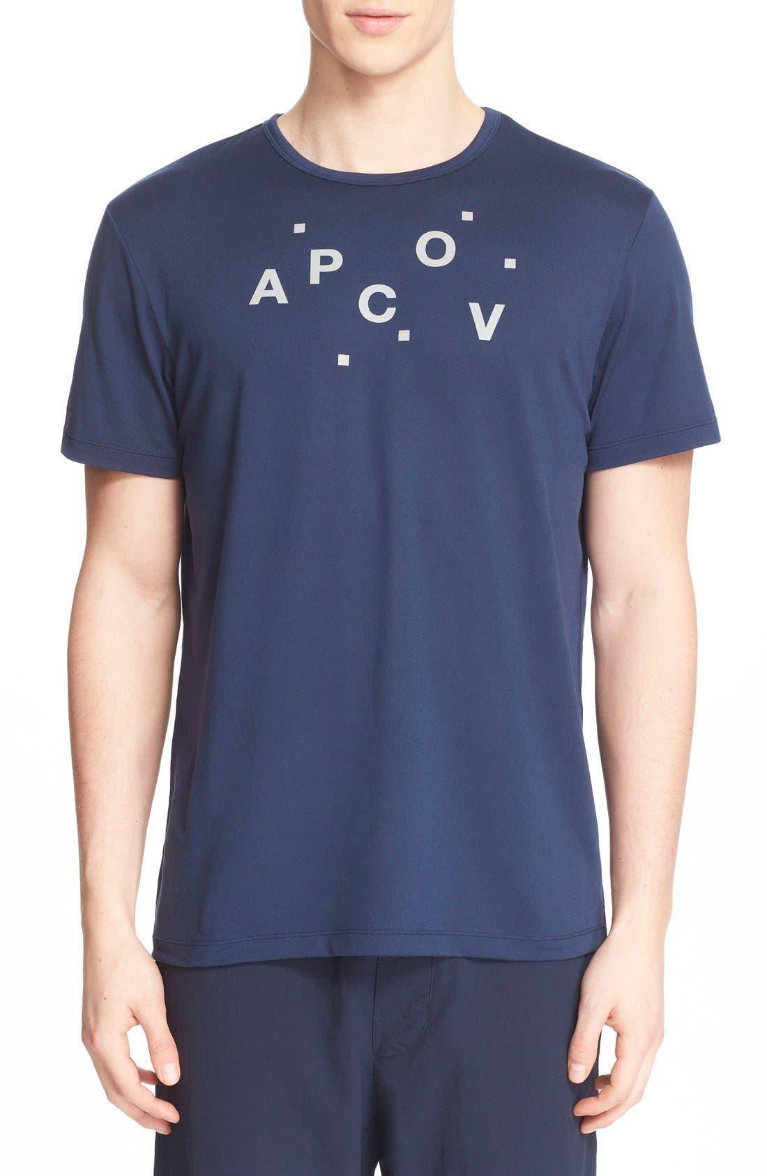 and Outdoor Voices 'Austin' Crewneck Logo T-Shirt, Main, color, 410