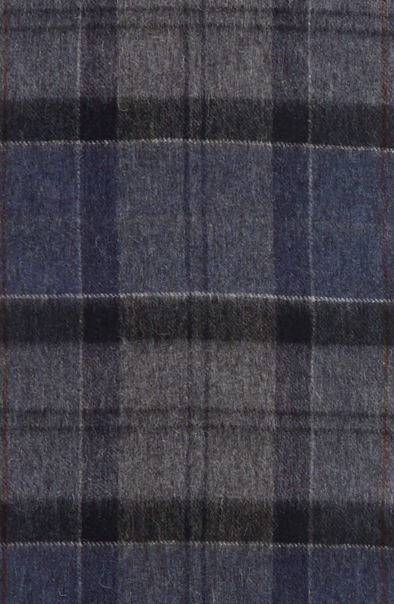 Tartan Plaid Wool & Cashmere Scarf,                             Alternate thumbnail 4, color,                             410