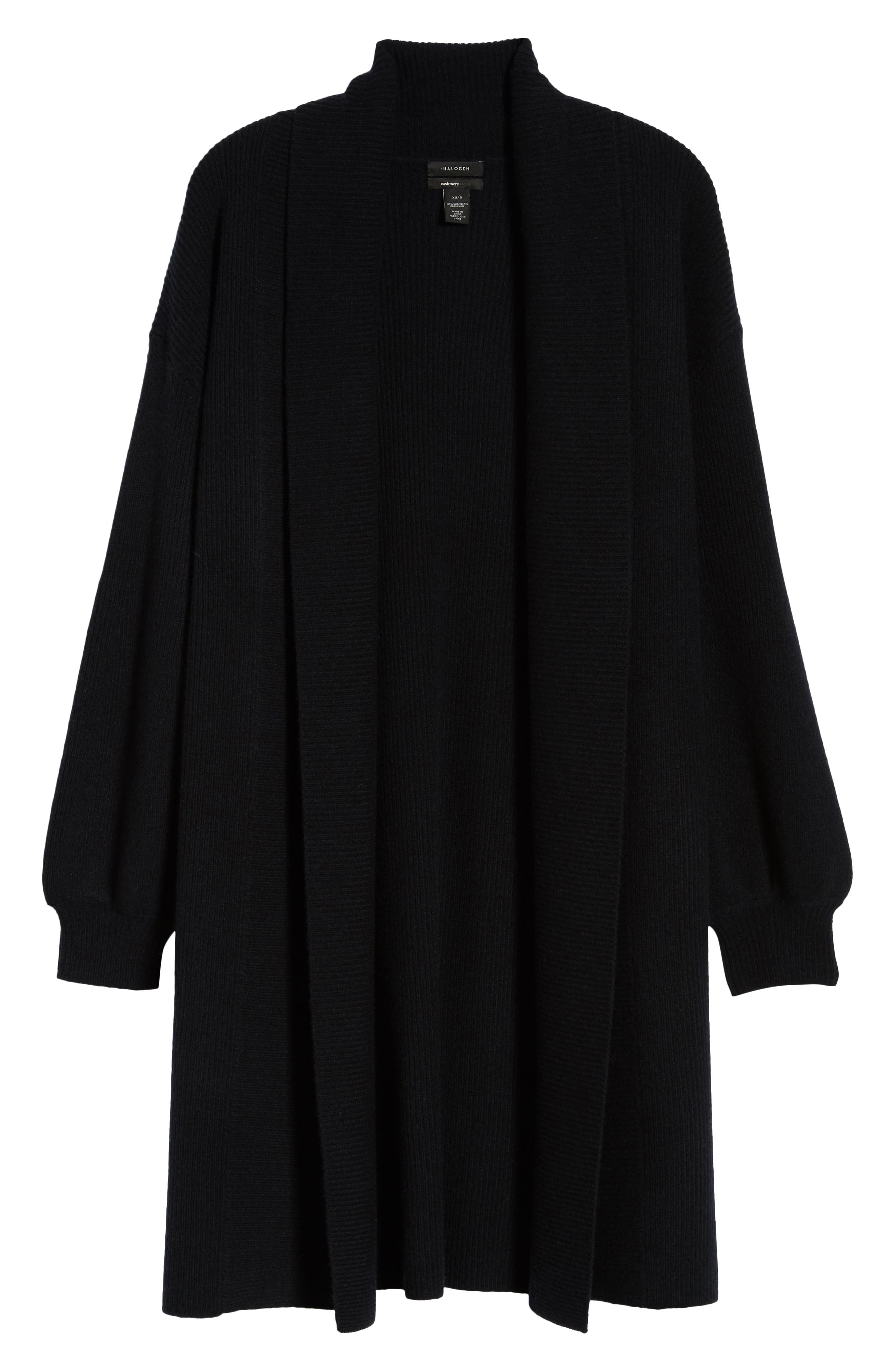 Blouson Sleeve Long Cashmere Cardigan,                             Alternate thumbnail 17, color,