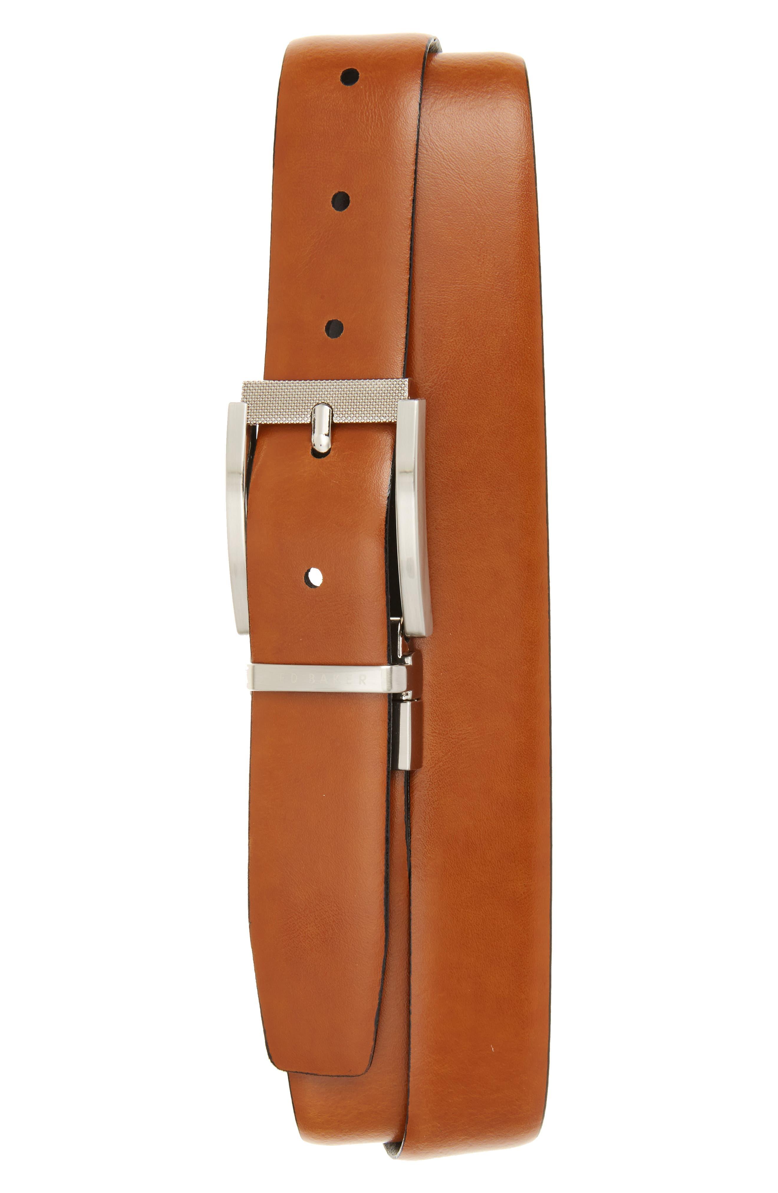 Reva Reversible Leather Belt,                             Alternate thumbnail 2, color,                             BLACK