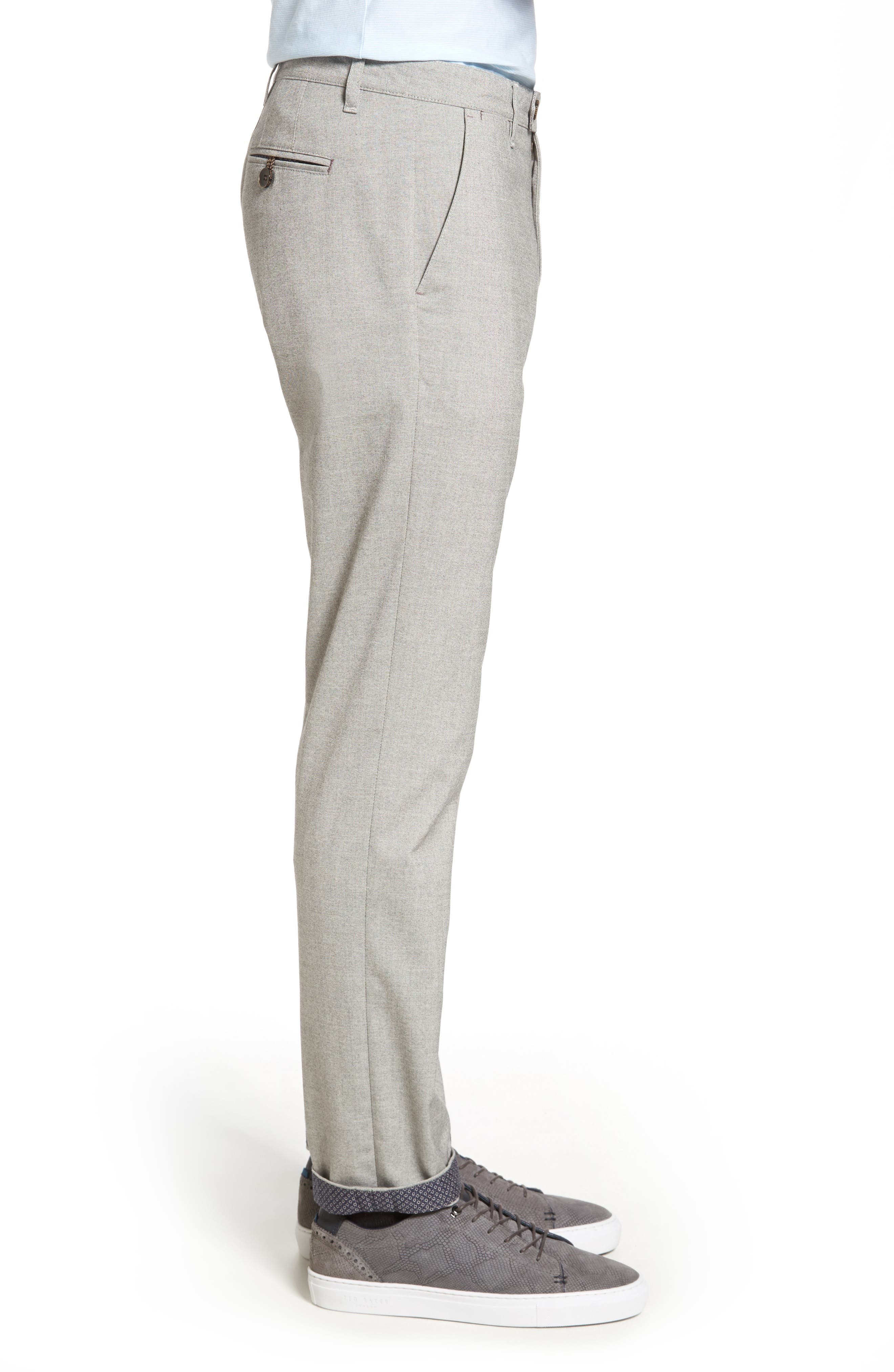 TED BAKER LONDON,                             Volvek Classic Fit Trousers,                             Alternate thumbnail 3, color,                             030