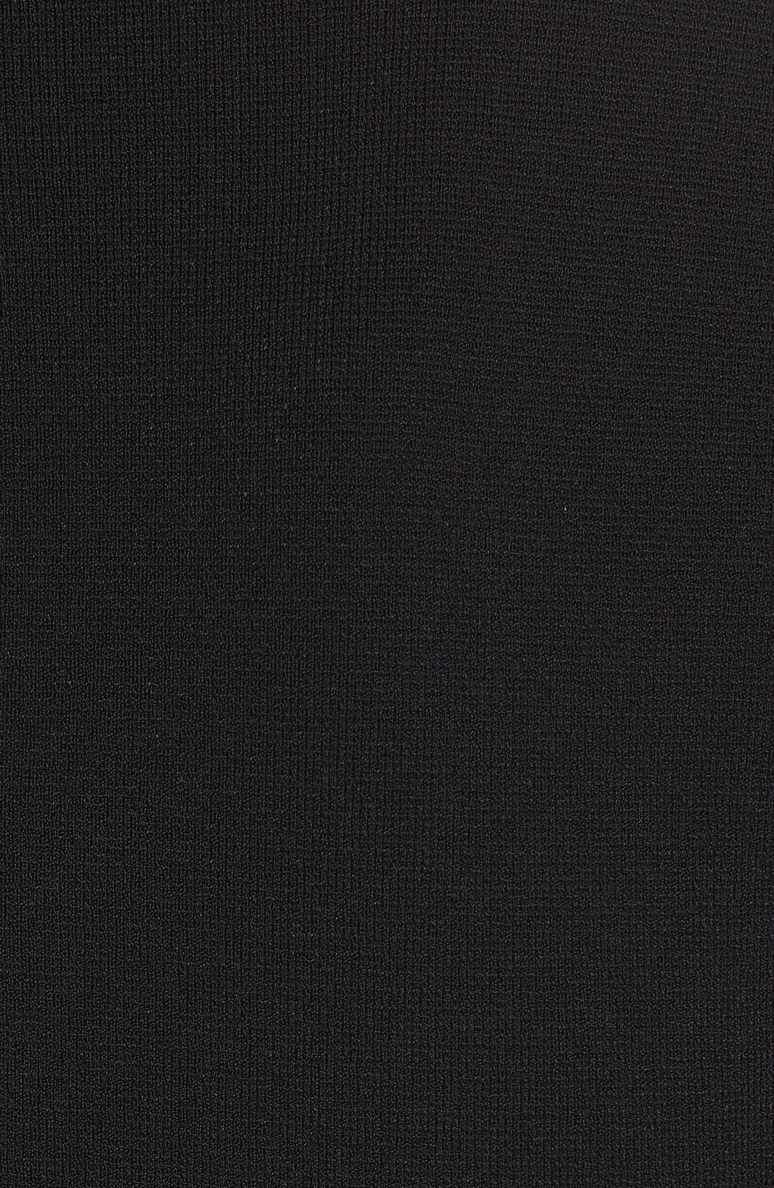 Balloon Sleeve Milano Stitch Dress,                             Alternate thumbnail 5, color,                             001