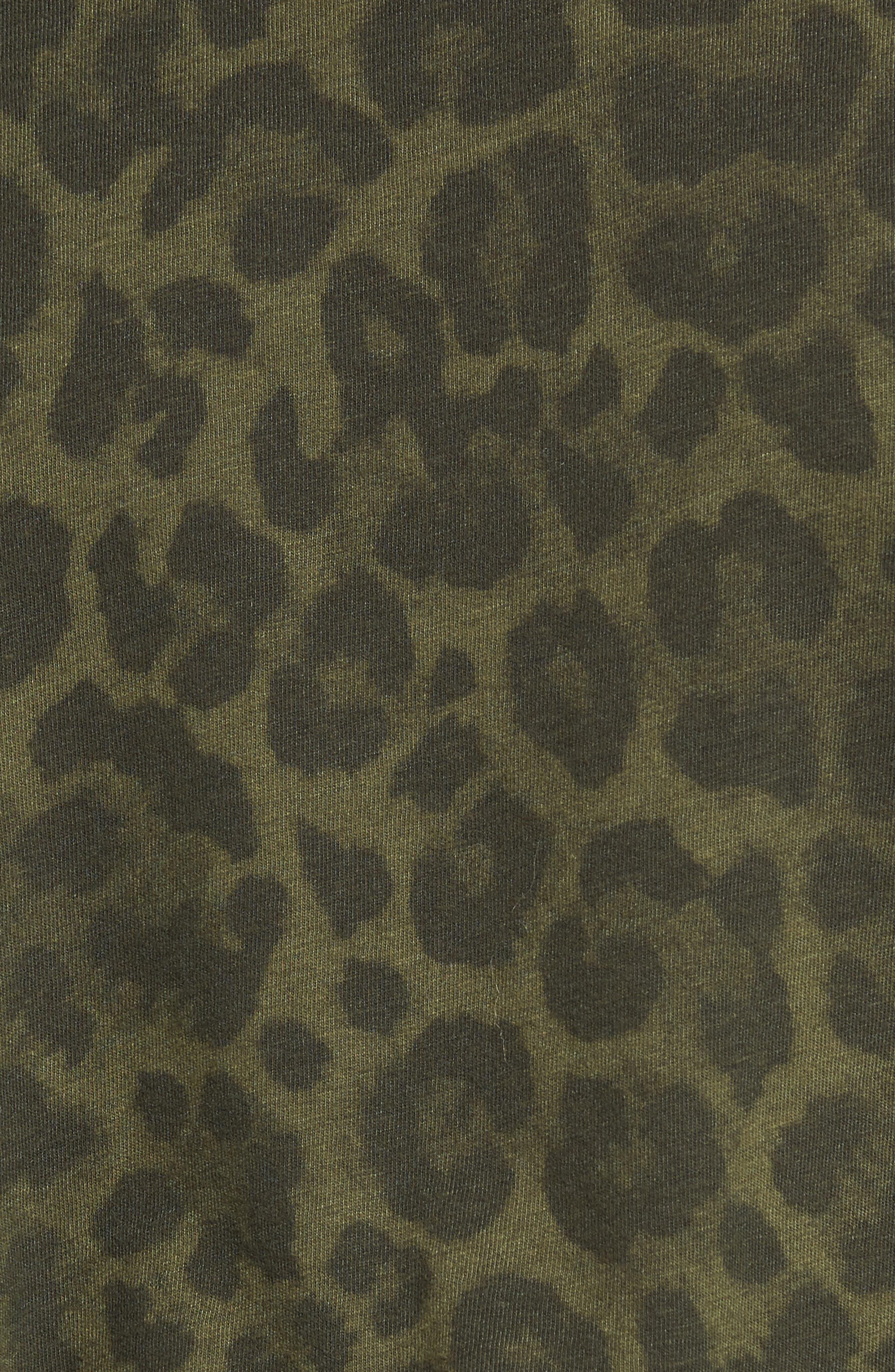 Leopard Print Tee,                             Alternate thumbnail 5, color,                             317