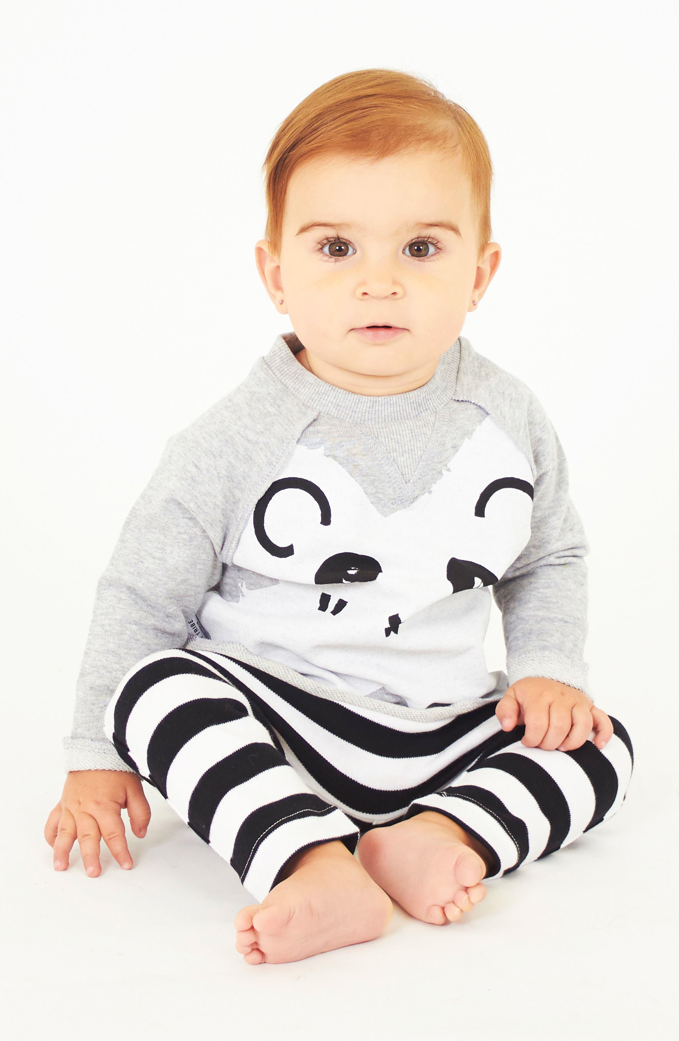 Panda Sweatshirt & Leggings Set,                             Alternate thumbnail 5, color,                             099
