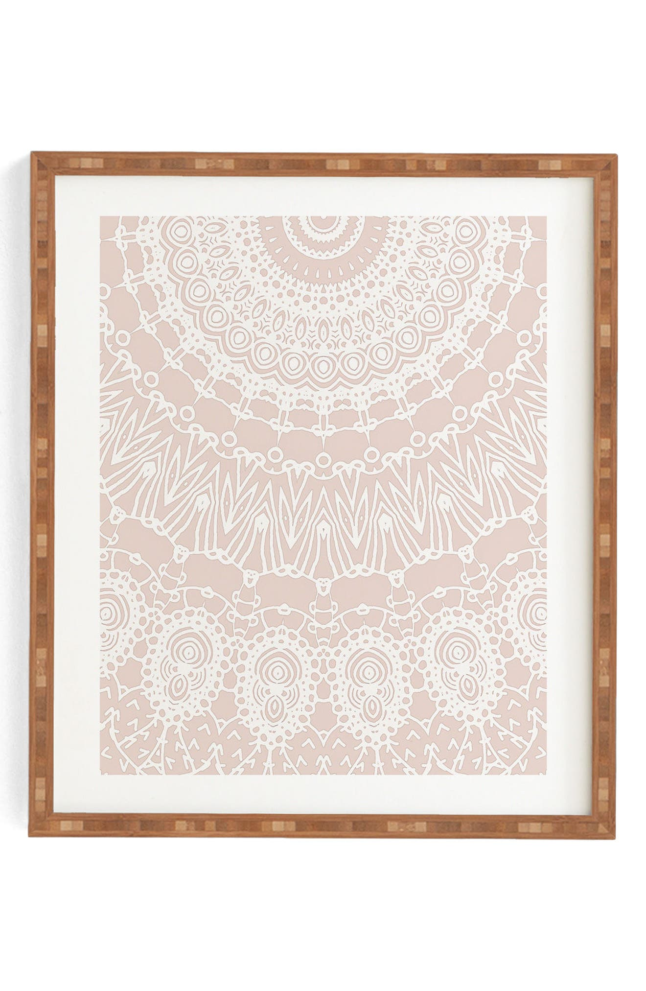 Moroccan Rose Framed Wall Art,                         Main,                         color, PINK