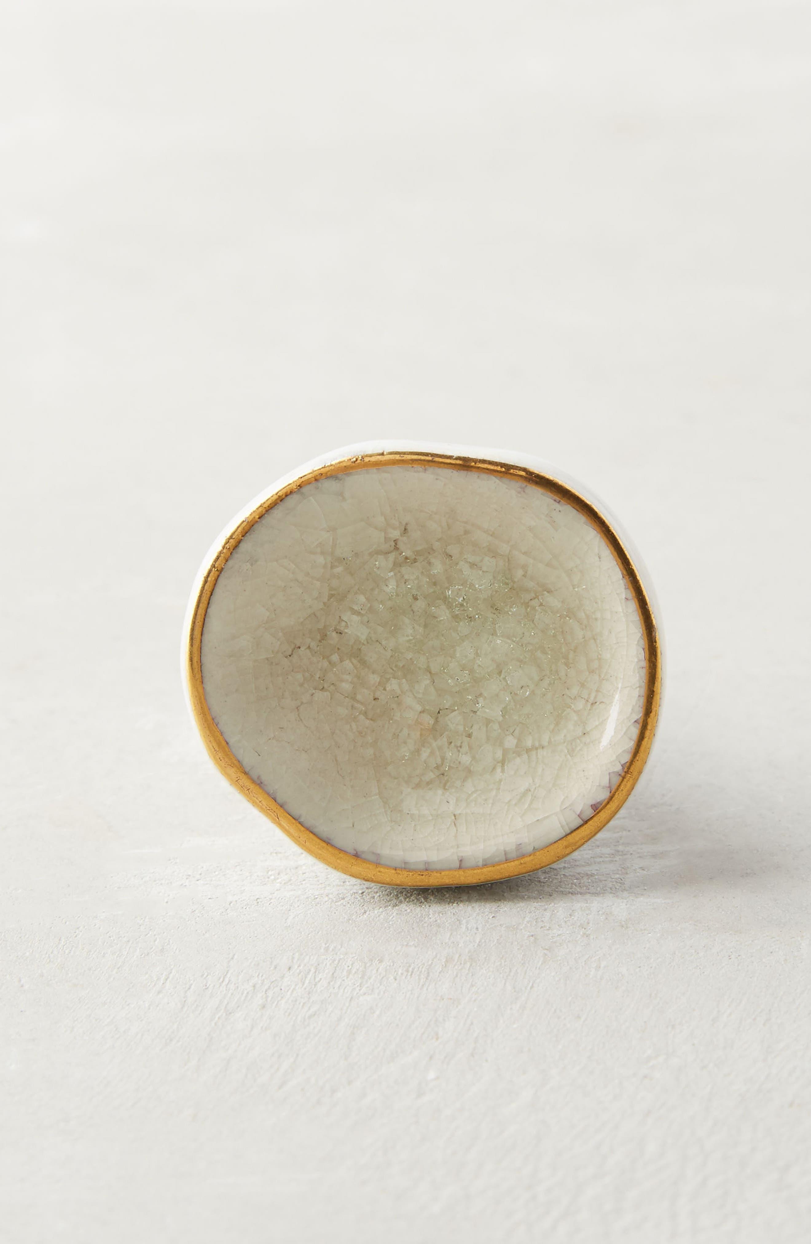 Ocean Crater Ceramic Knob,                             Alternate thumbnail 6, color,