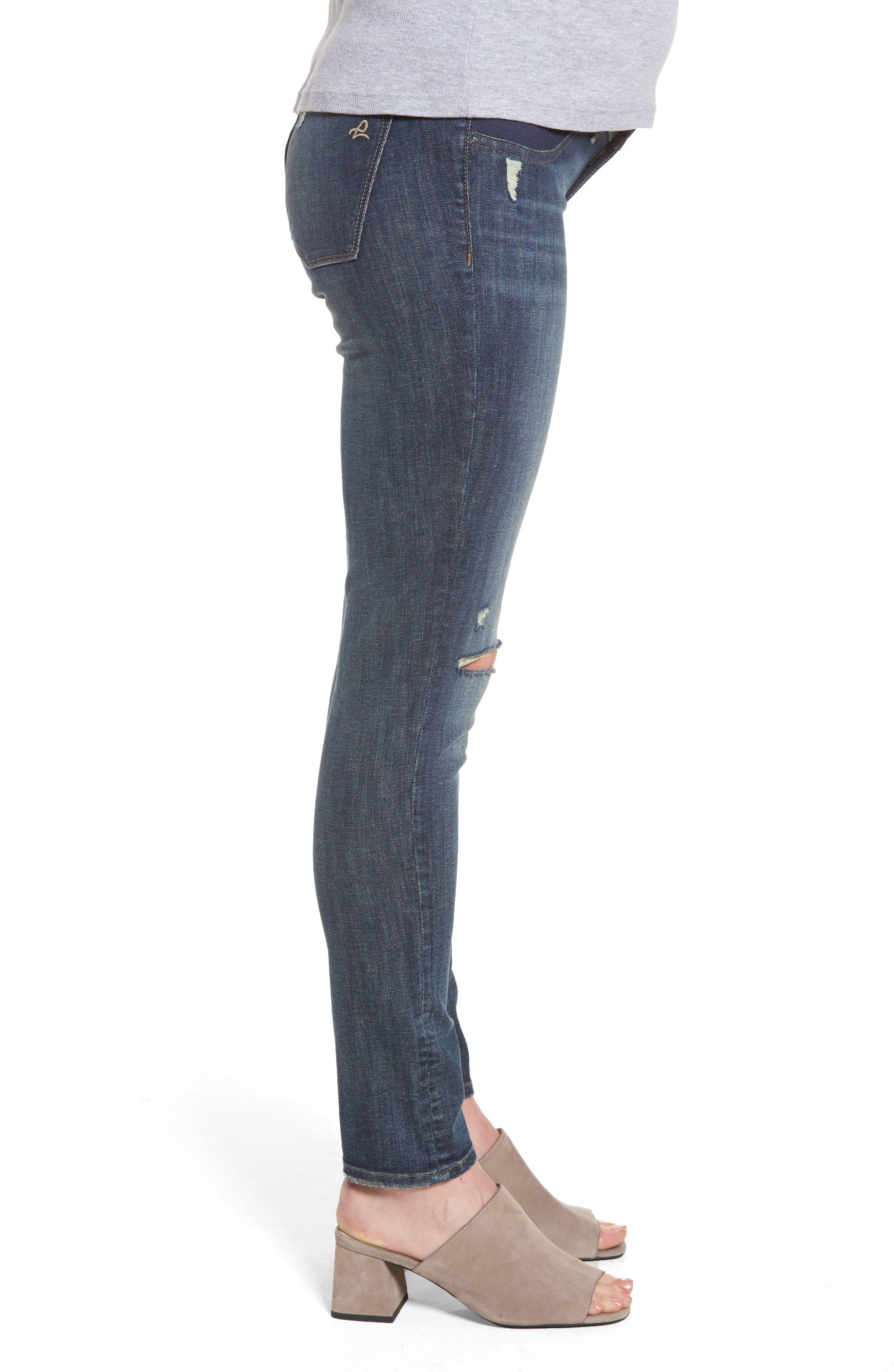Emma Power Legging Maternity Jeans,                             Alternate thumbnail 3, color,                             405