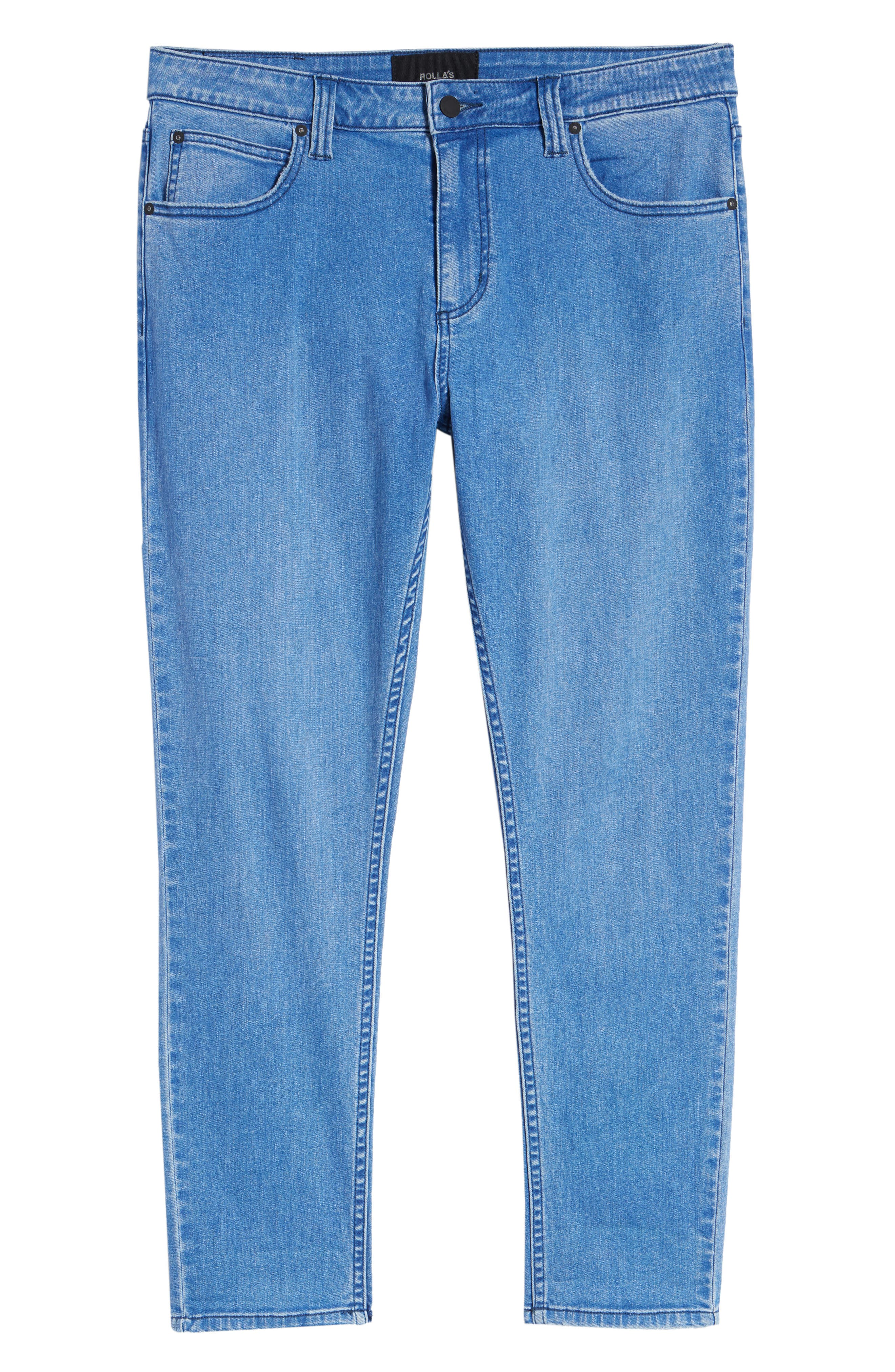 Rollies Slim Fit Jeans,                             Alternate thumbnail 6, color,                             BOLD BLUE