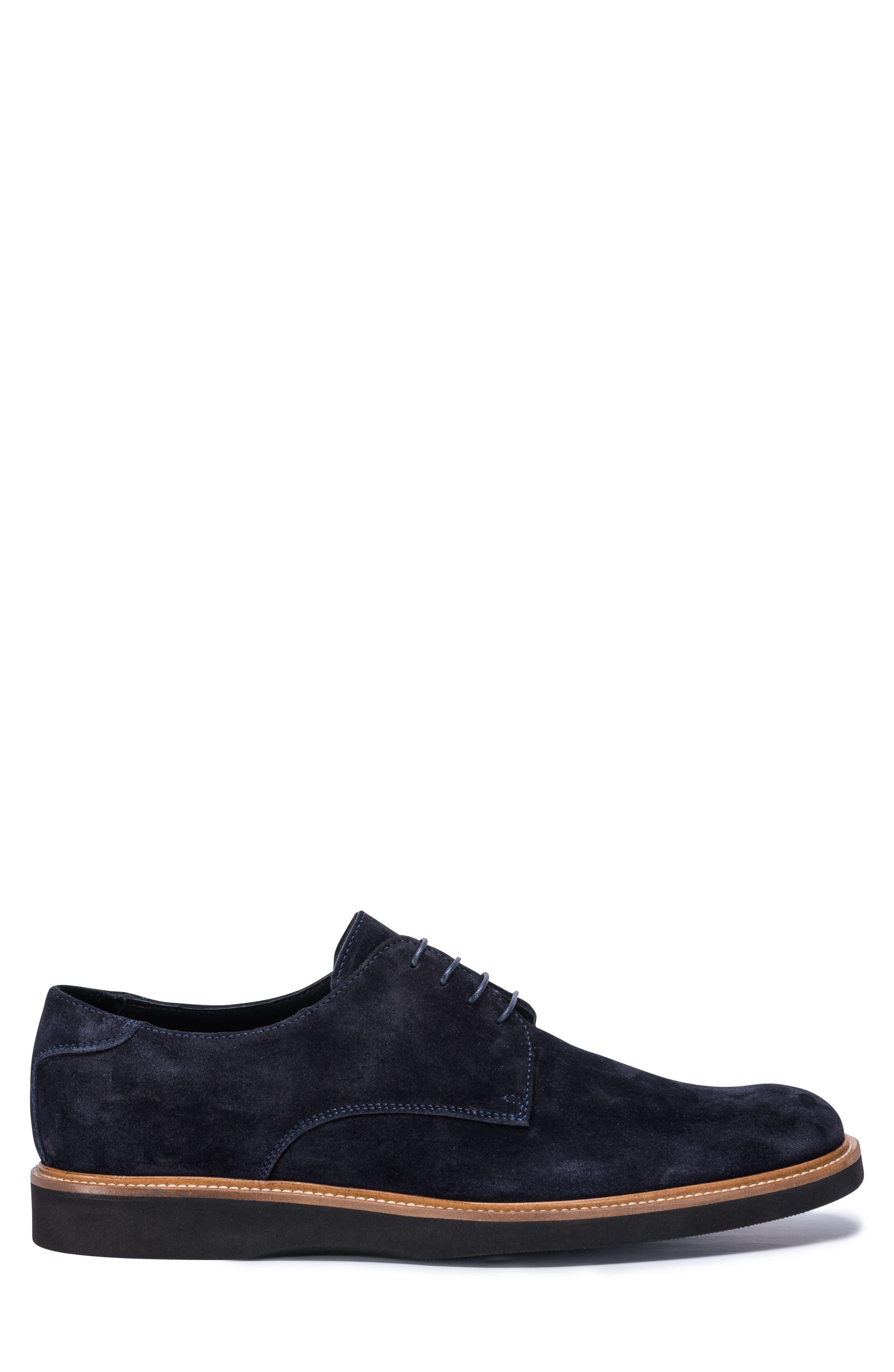 Siena Plain Toe Derby,                             Alternate thumbnail 3, color,                             BLUE SUEDE