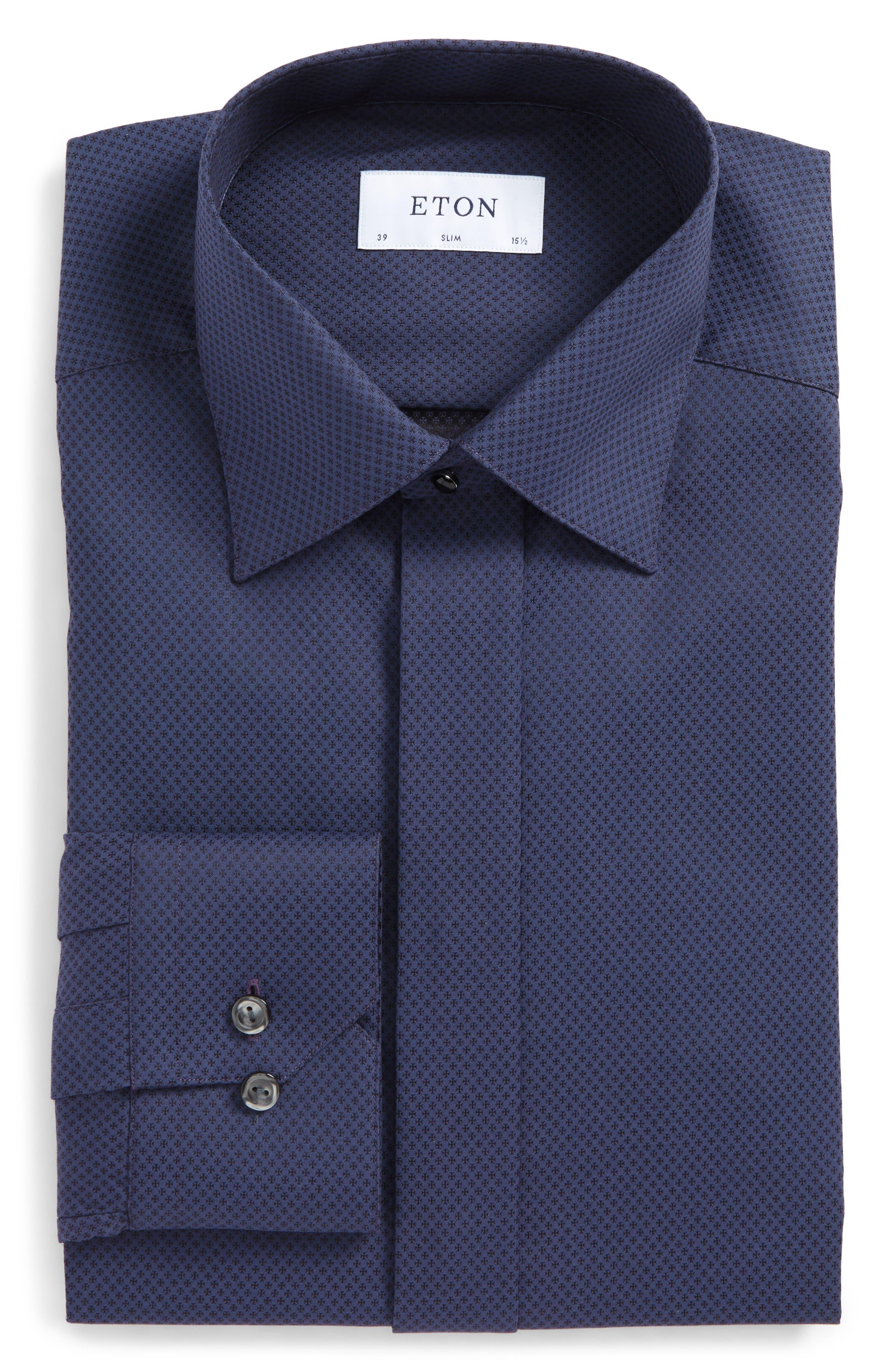 Slim Fit Print Dress Shirt,                         Main,                         color, 400