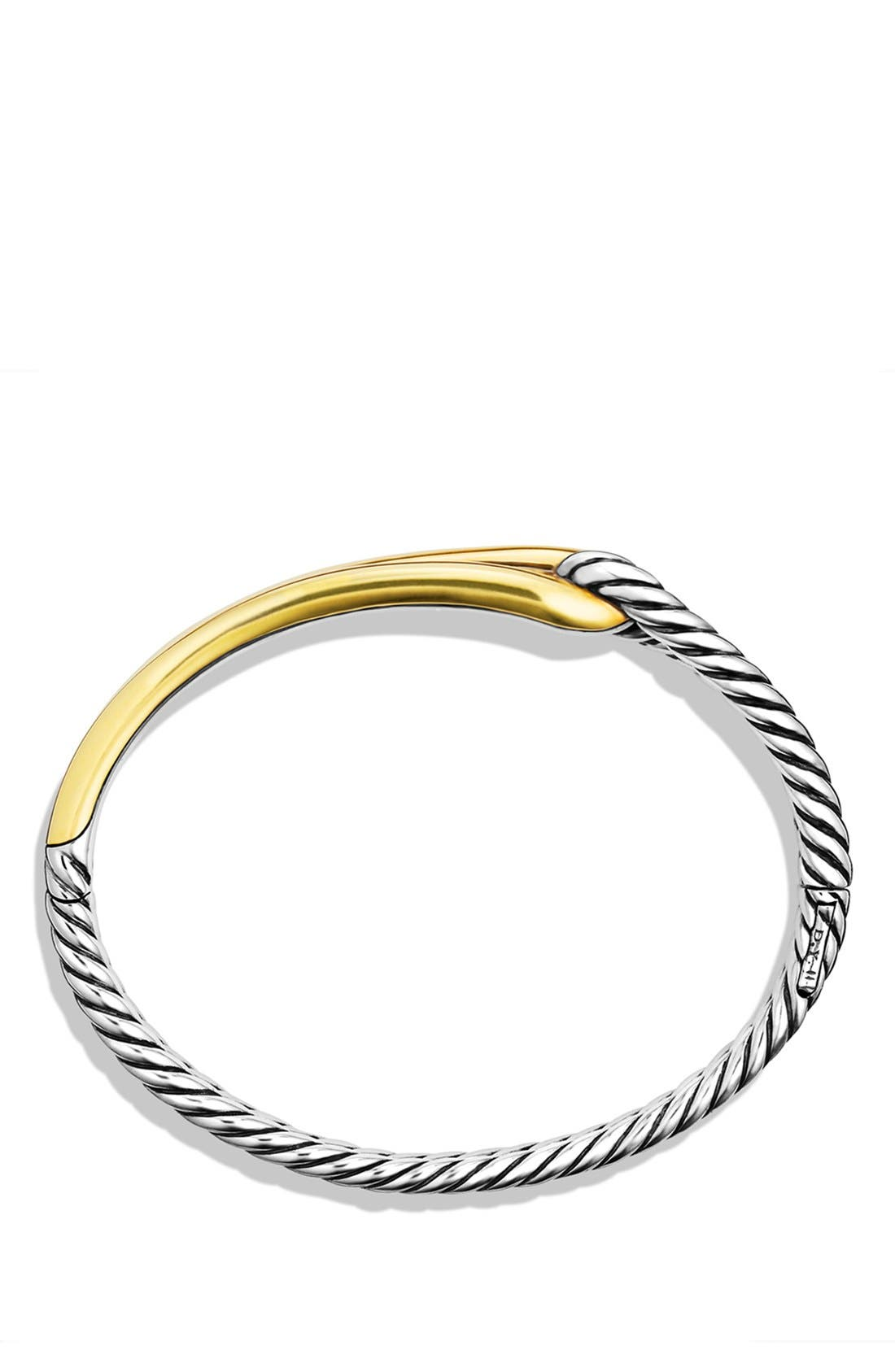 'Labyrinth' Single-Loop Bracelet with Gold,                             Alternate thumbnail 3, color,                             TWO TONE