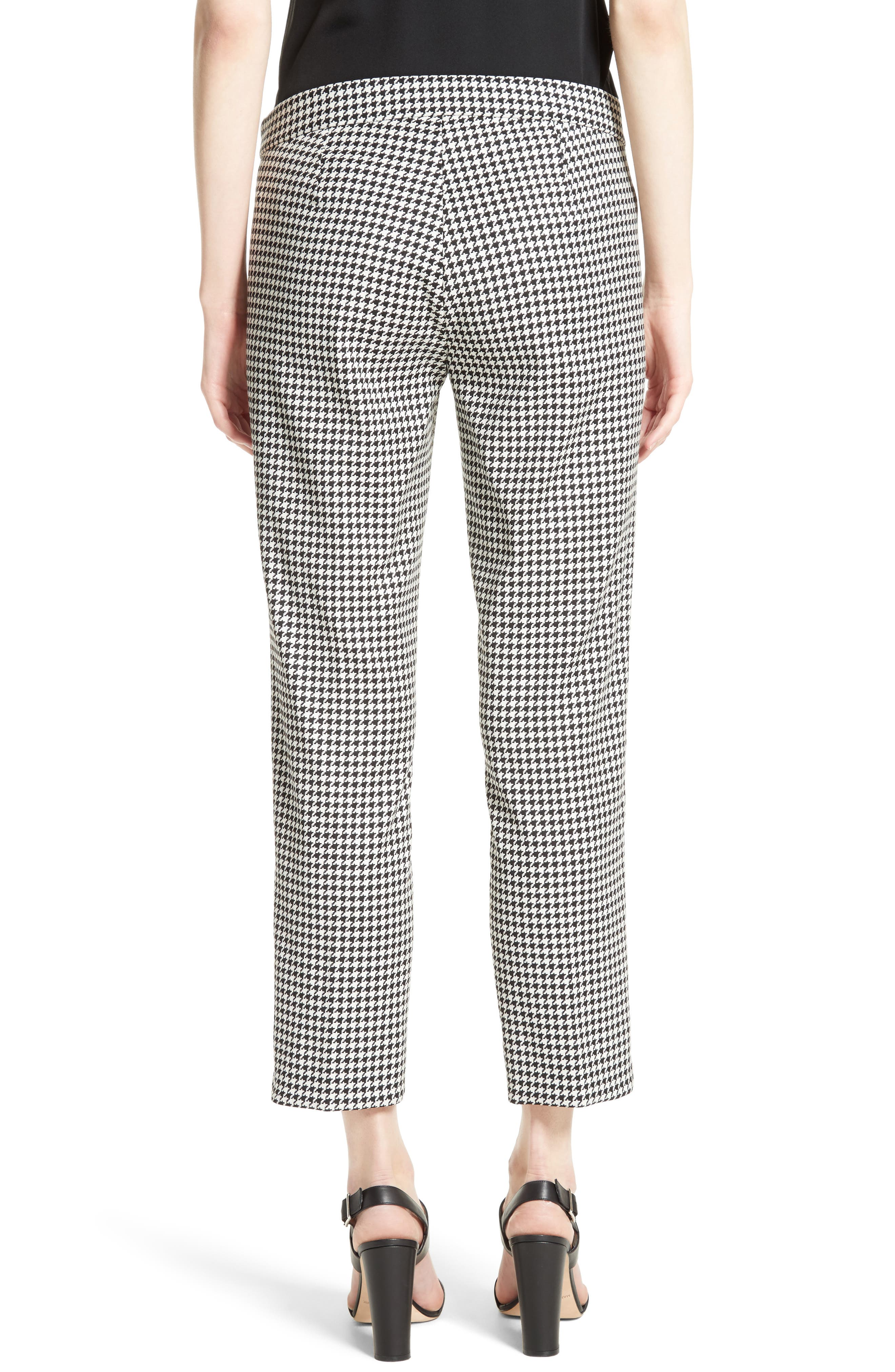 Astrale Houndstooth Wool Blend Pants,                             Alternate thumbnail 2, color,                             001