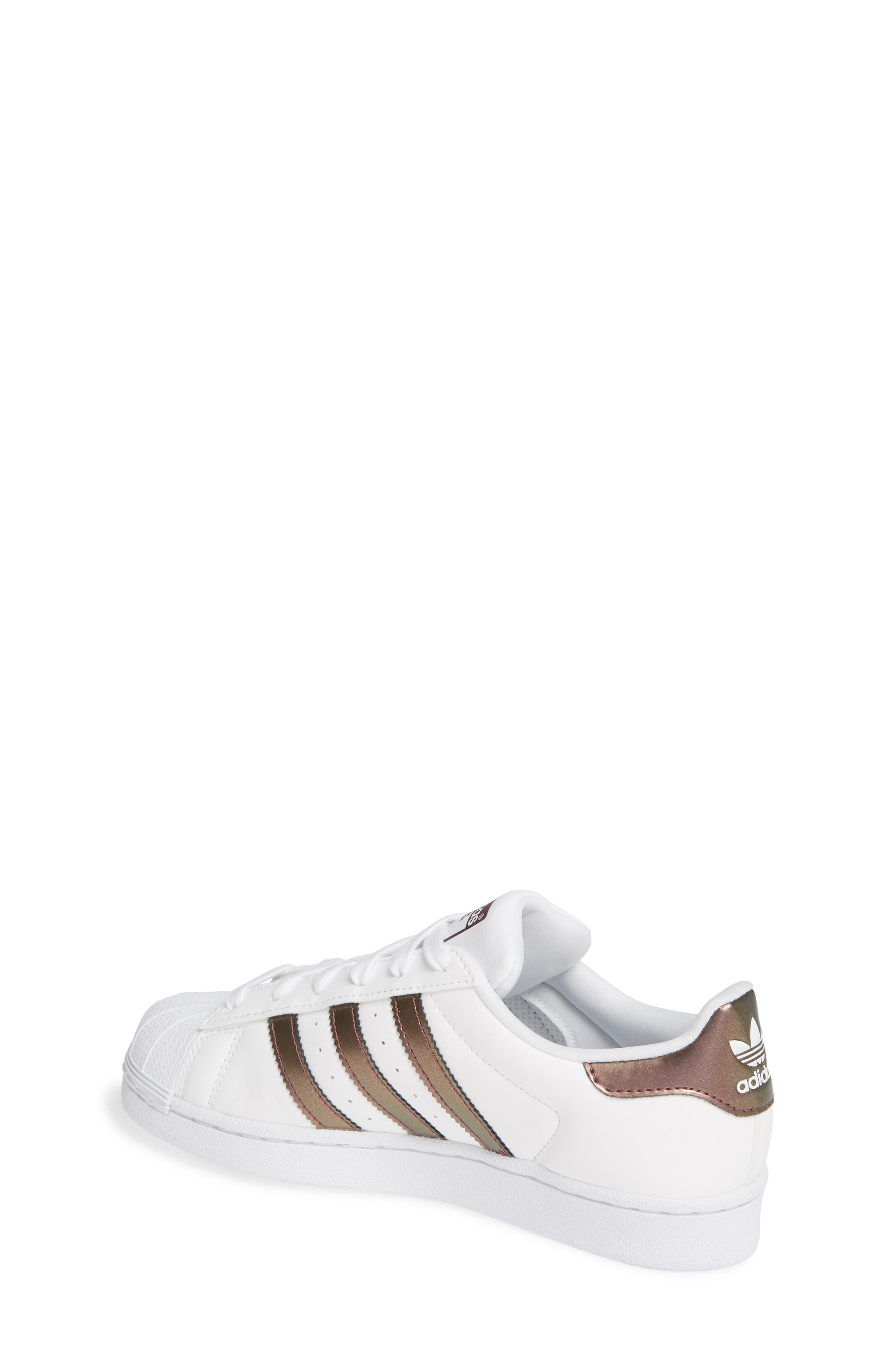 'Superstar II' Sneaker,                             Alternate thumbnail 2, color,                             FOOTWEAR WHITE/COPPER