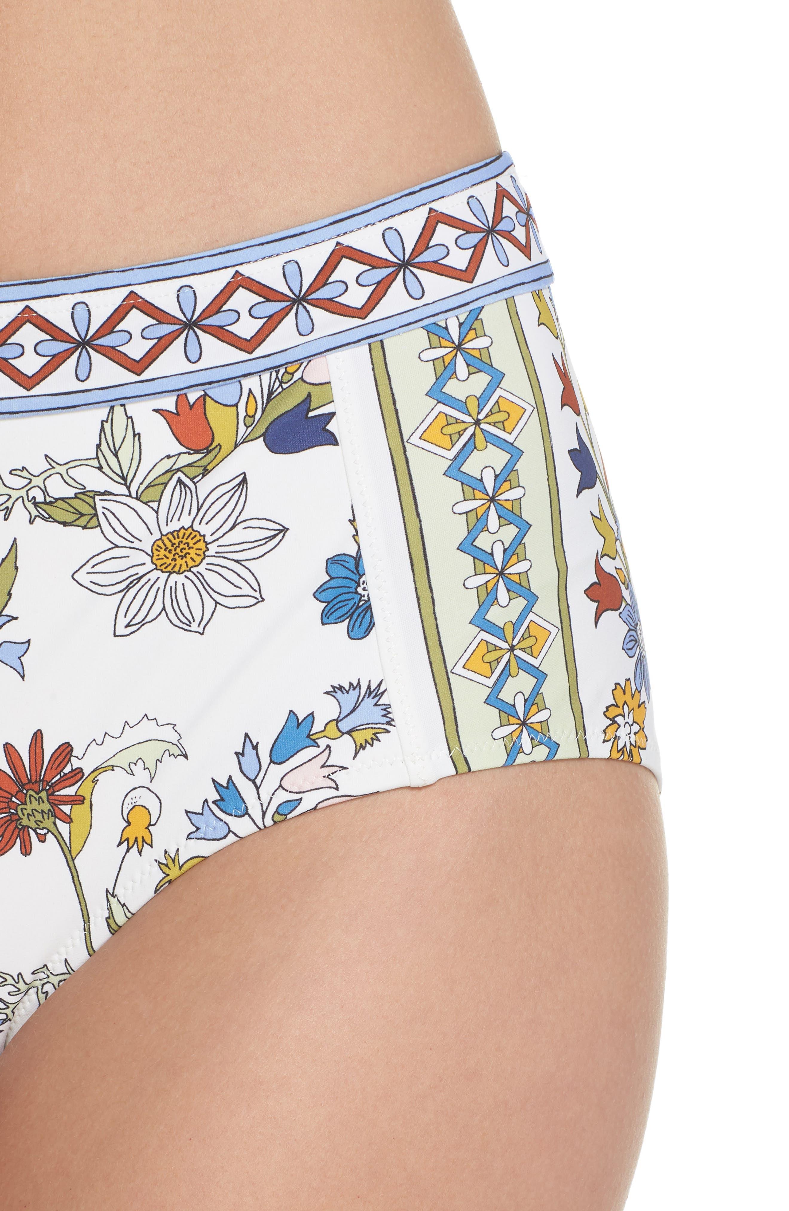 Meadow Folly High Waist Bikini Bottoms,                             Alternate thumbnail 4, color,                             900