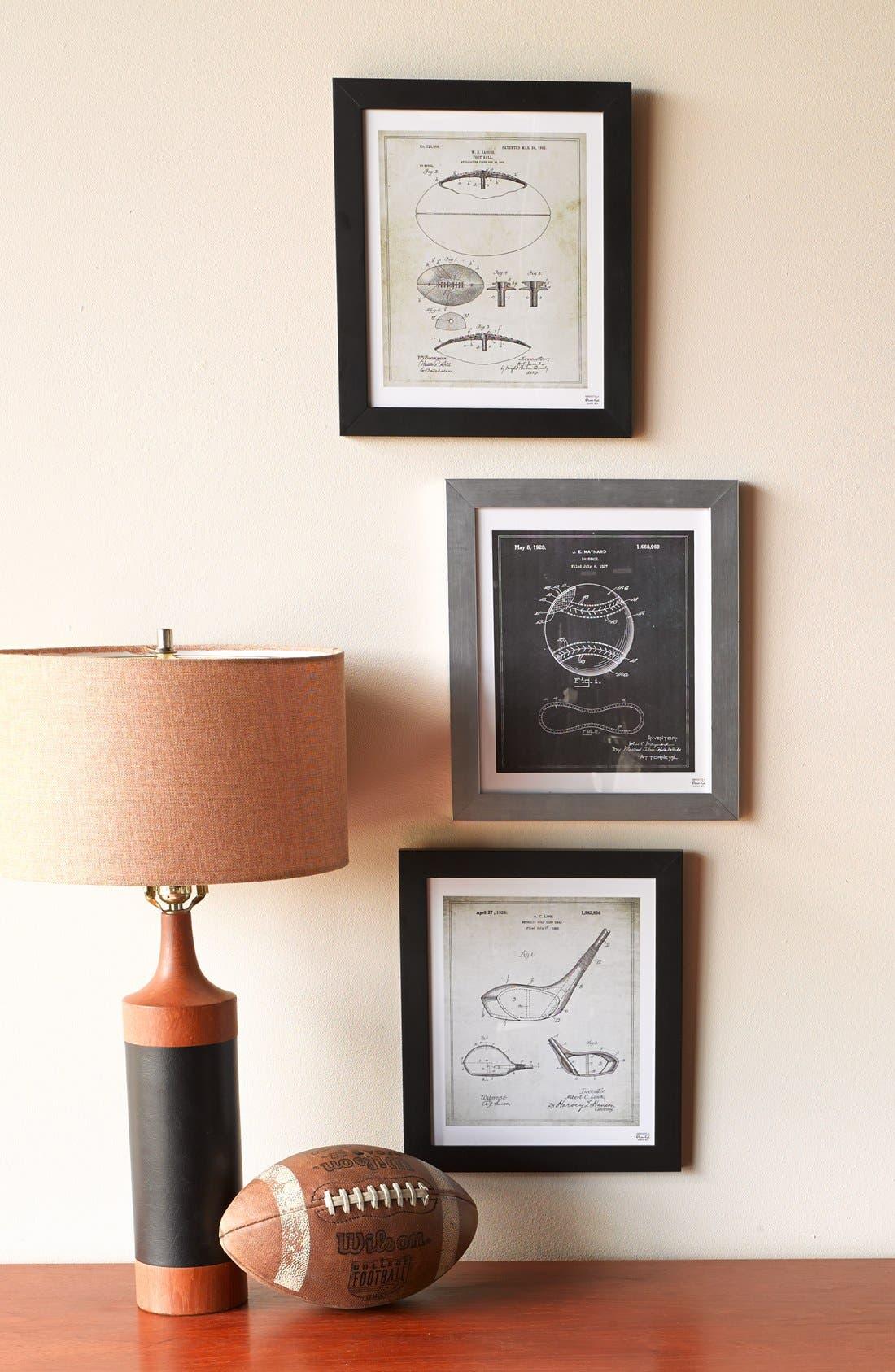 'Golf Club Blueprint' Framed Print,                             Alternate thumbnail 3, color,                             020