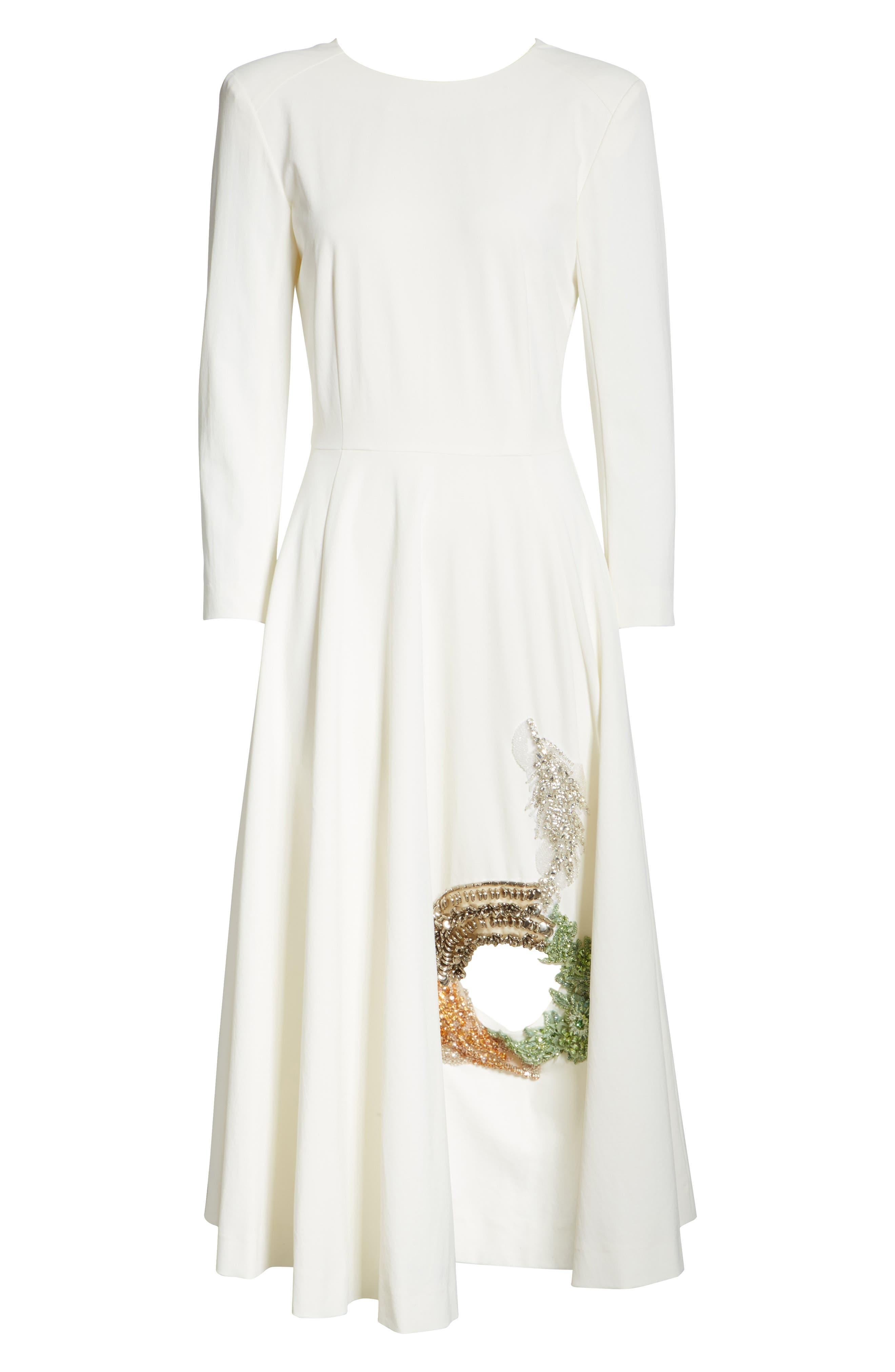 TOGA,                             Beaded Keyhole Dress,                             Alternate thumbnail 8, color,                             100