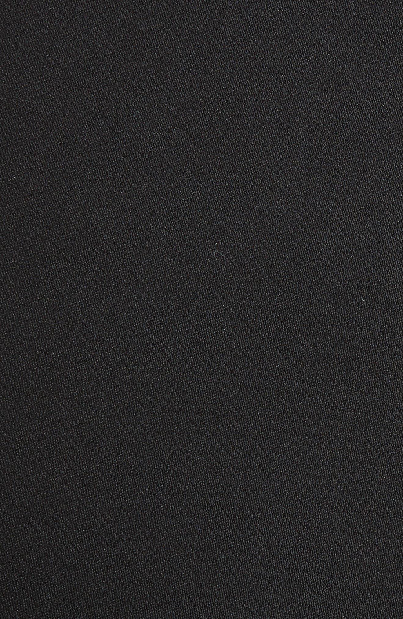 Faux Leather Stretch Leggings,                             Alternate thumbnail 5, color,                             001