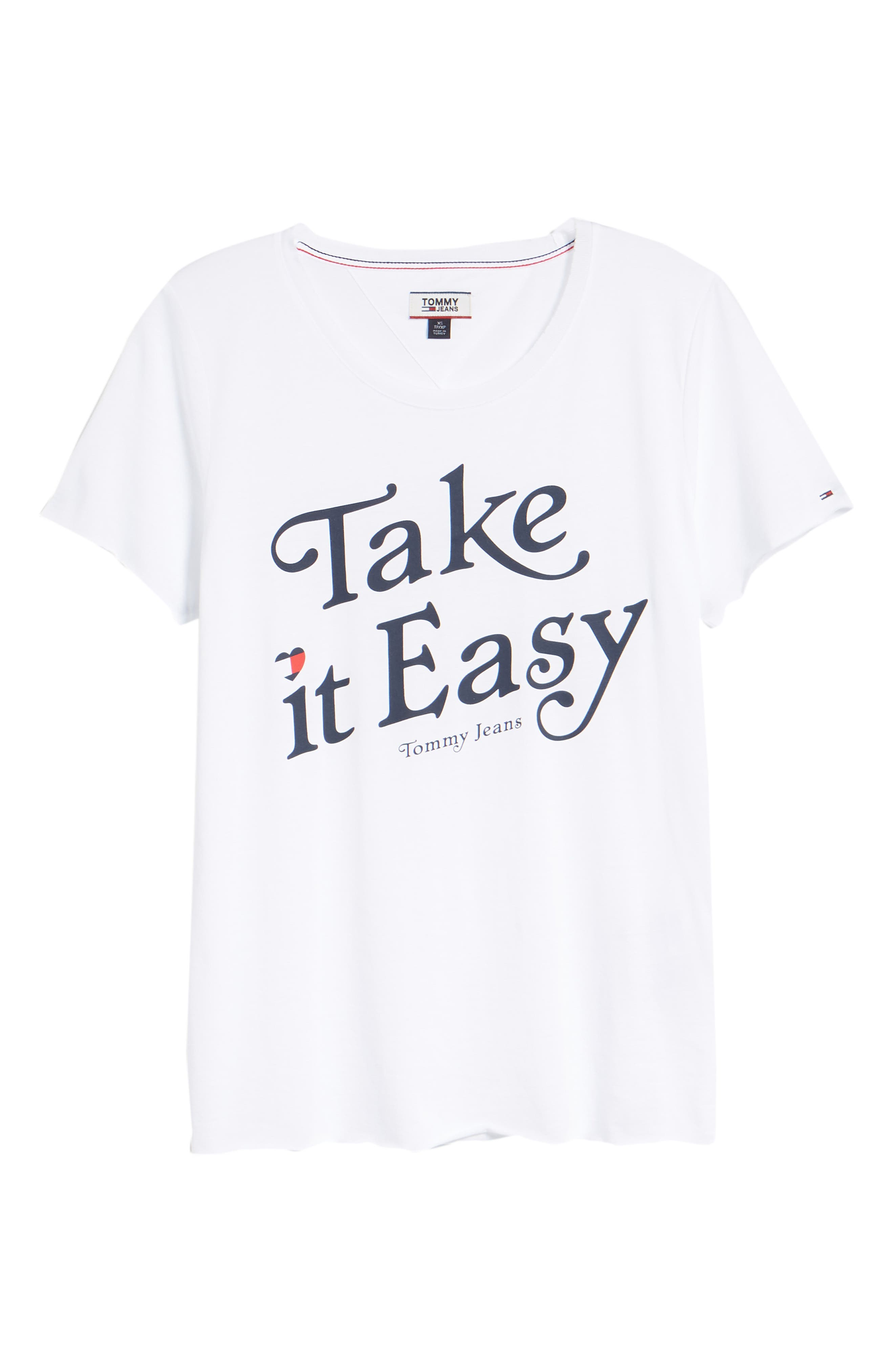 TJW Take It Easy Graphic Tee,                             Alternate thumbnail 6, color,                             BRIGHT WHITE