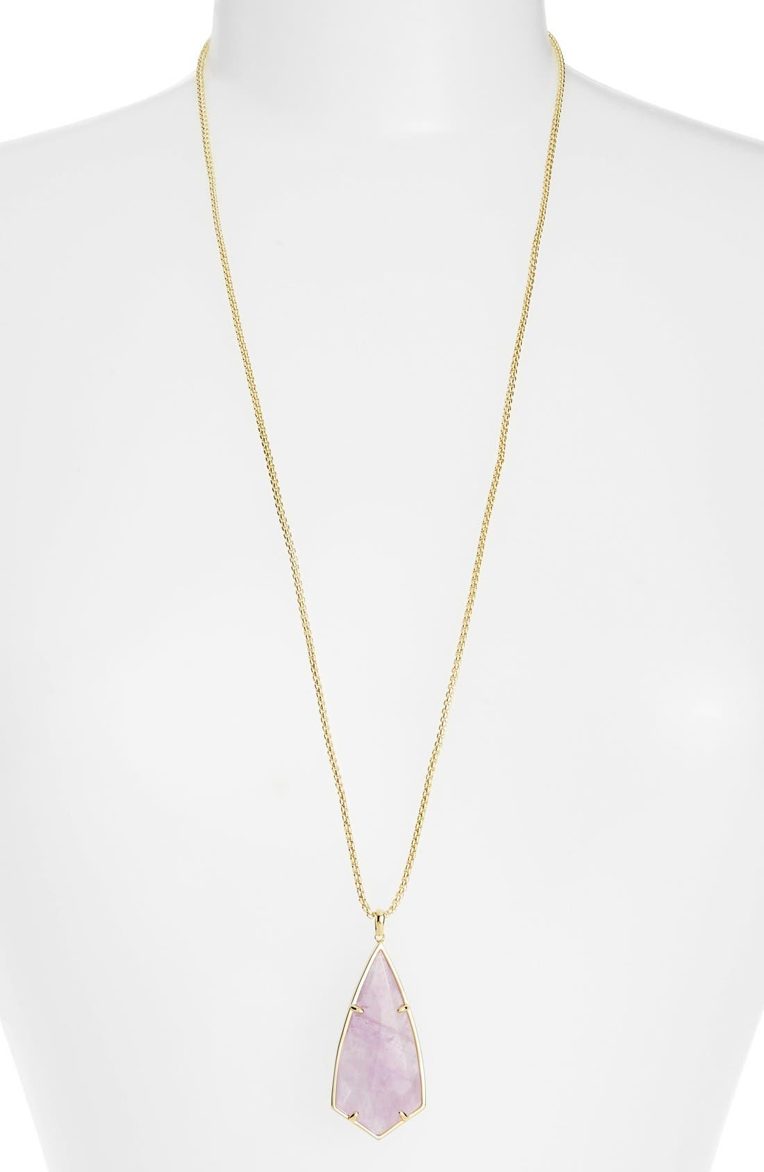 'Carole' Long Semiprecious Stone Pendant Necklace,                             Main thumbnail 9, color,